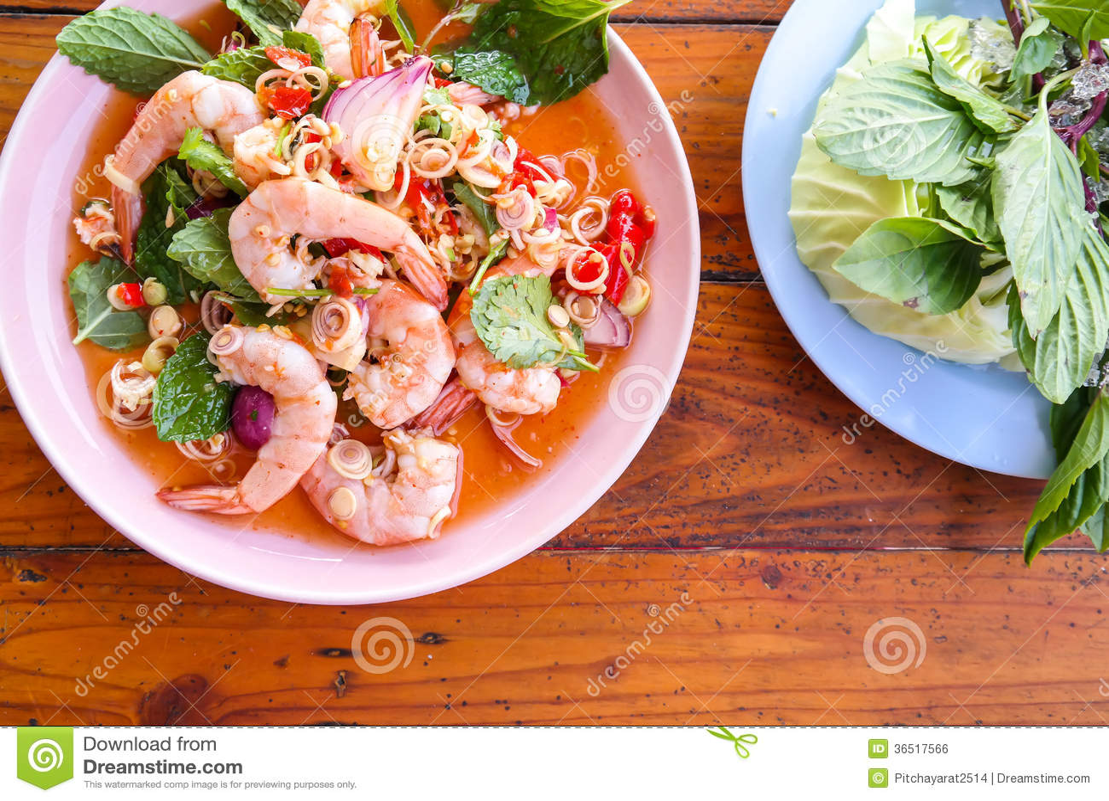 Salade spciy garnalen