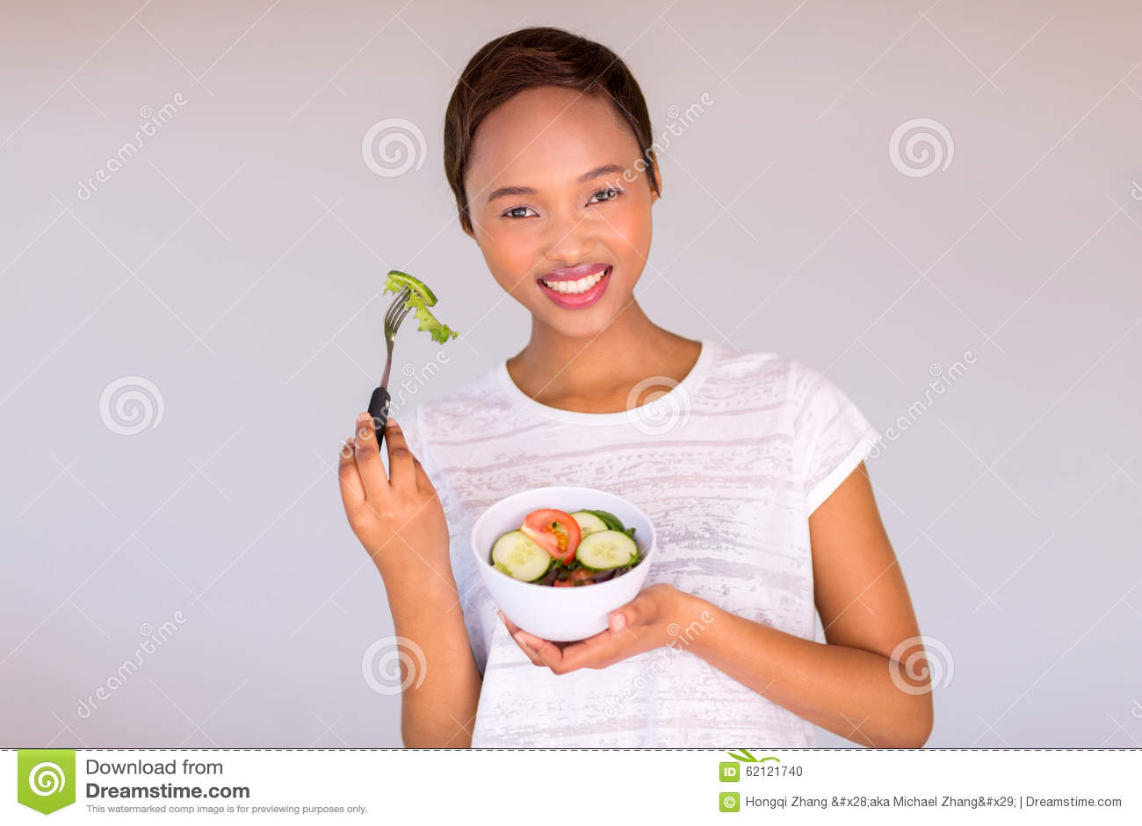 Salade végétarienne africaine de consommation
