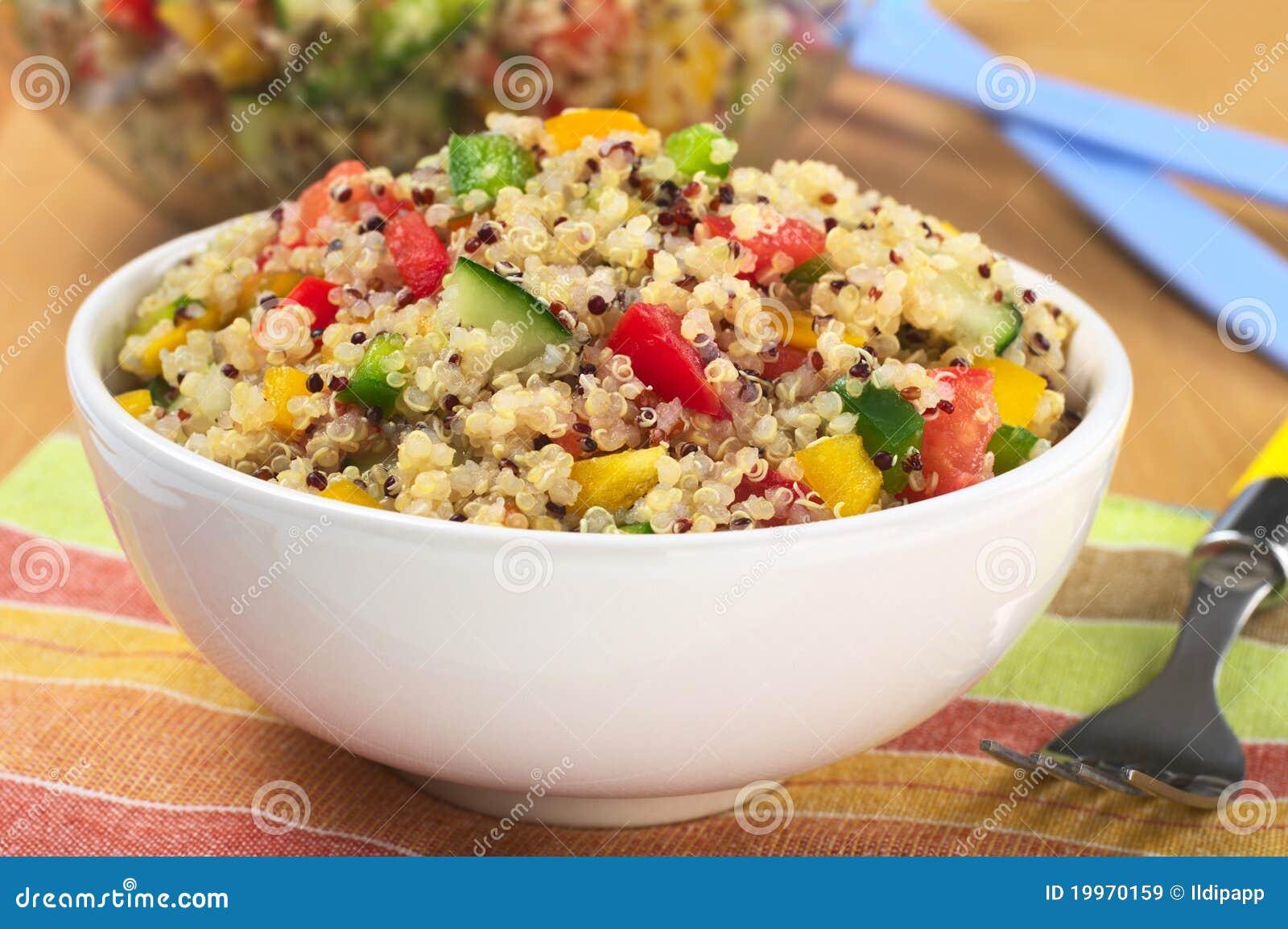 Salade végétarienne de quinoa