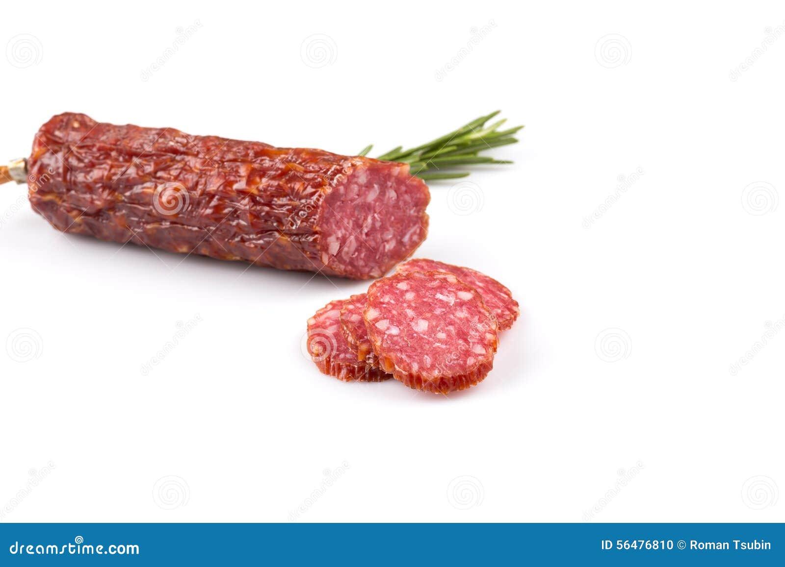 Salami coupé en tranches