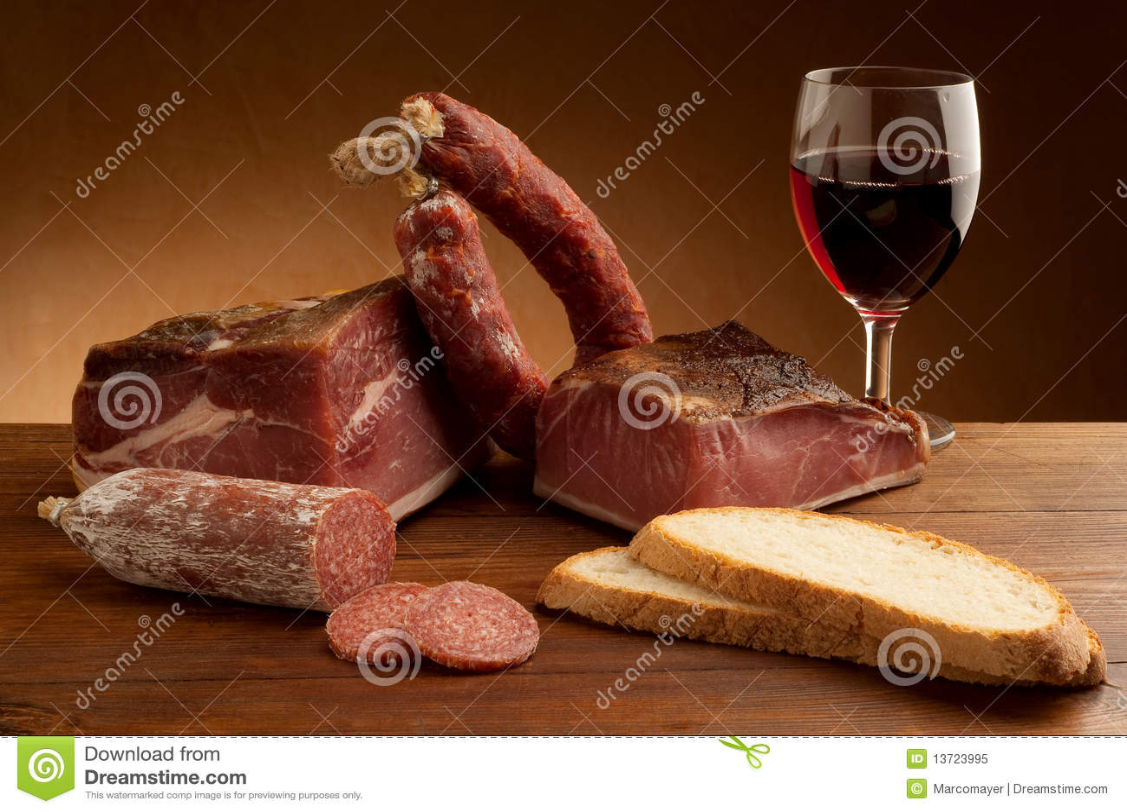 Salami do italiano da mistura