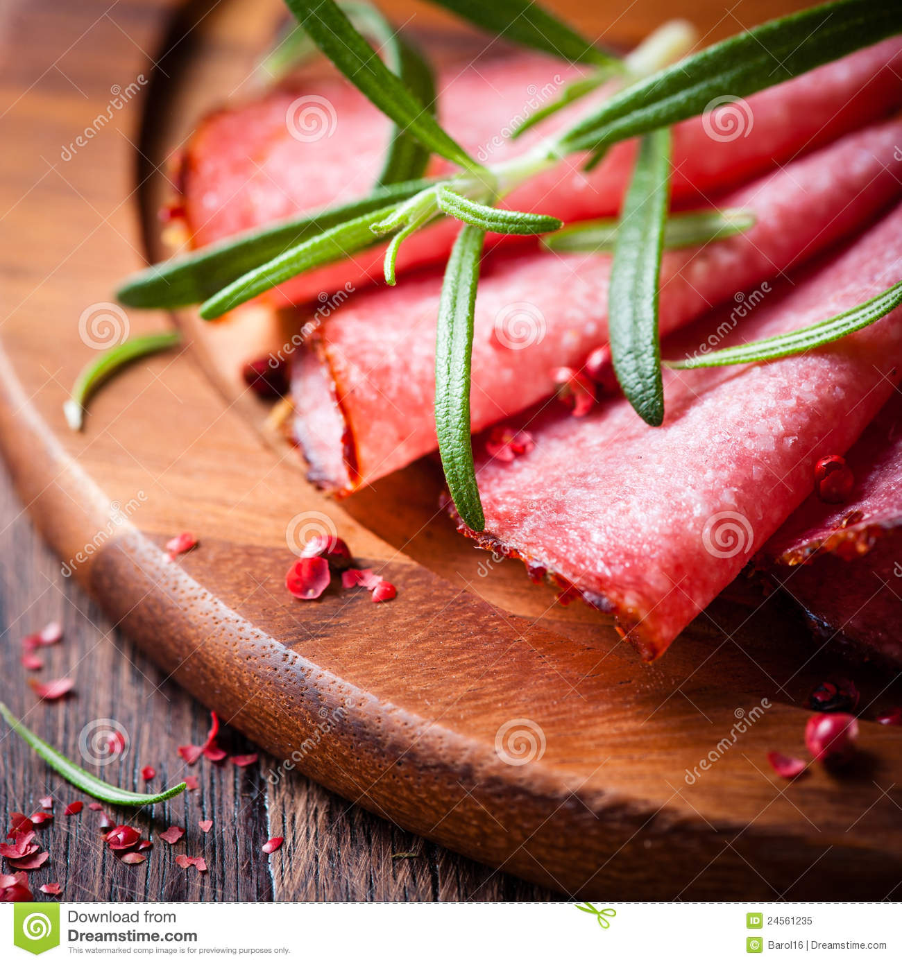 Salami with Rosemary