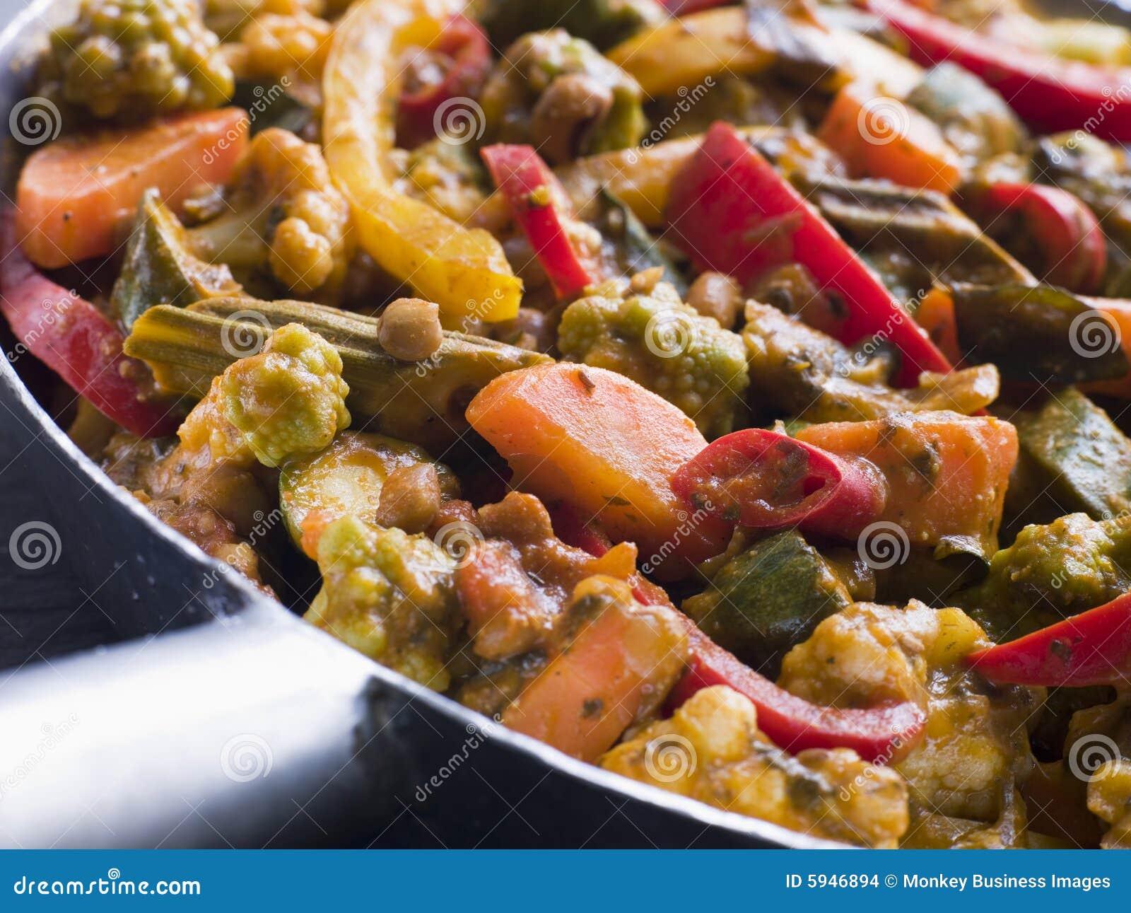 Salan λαχανικό sabzi κάρρυ