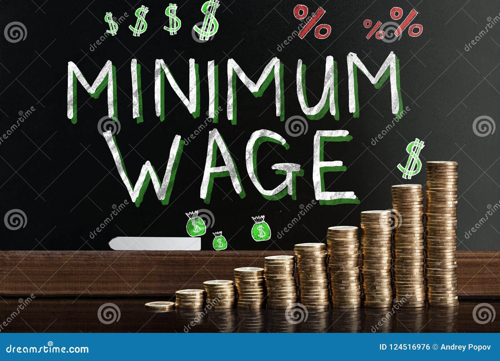 Salario mínimo en la pizarra
