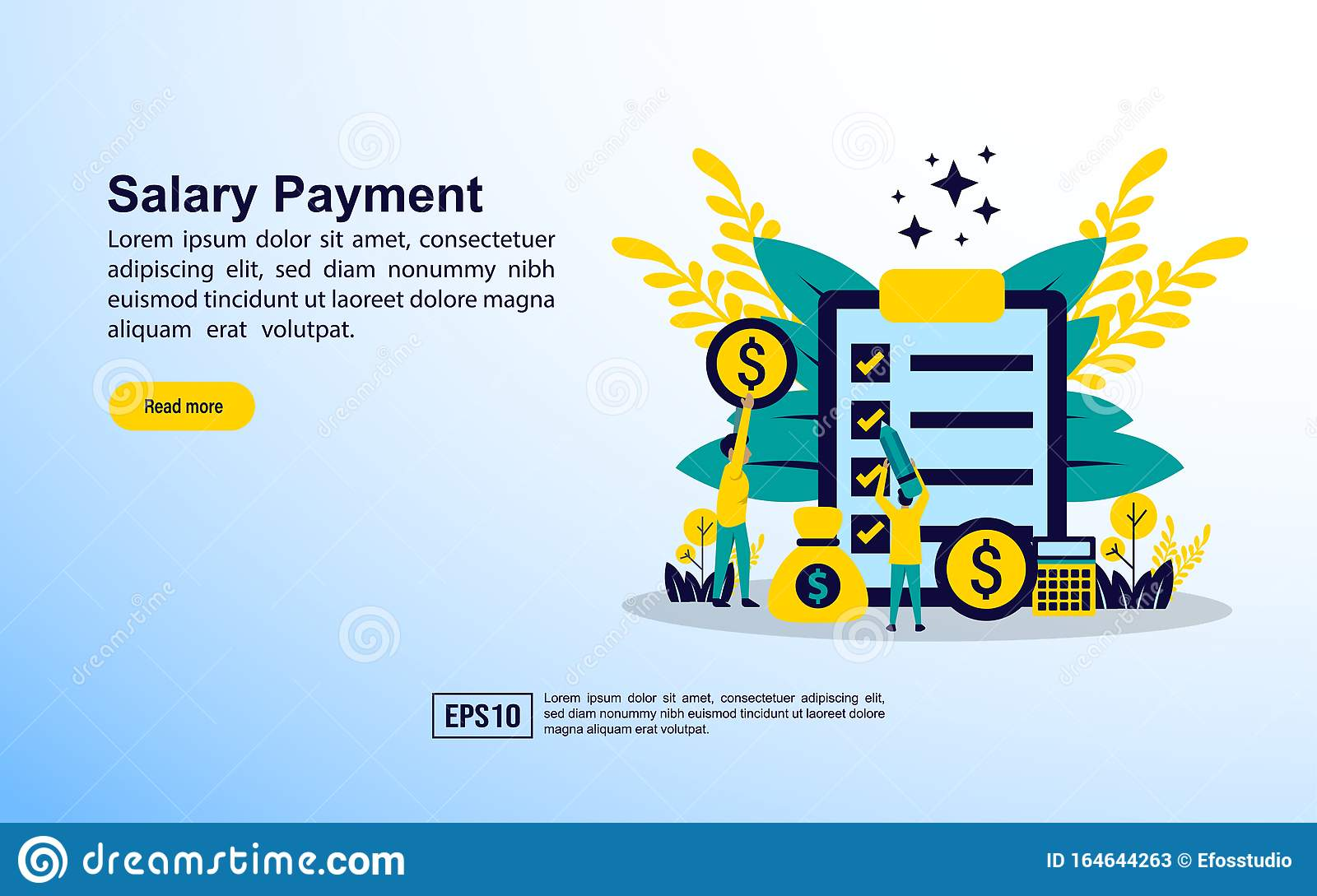 Salary Payment Concept With Icon And Character Template For Web Landing Page Banner Presentation Social Media Poster Stock Vector Illustration Of Currency Accounting 164644263