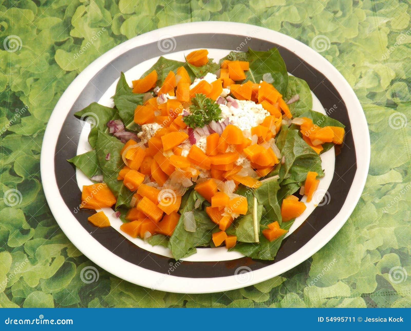 Salat des Löwenzahns