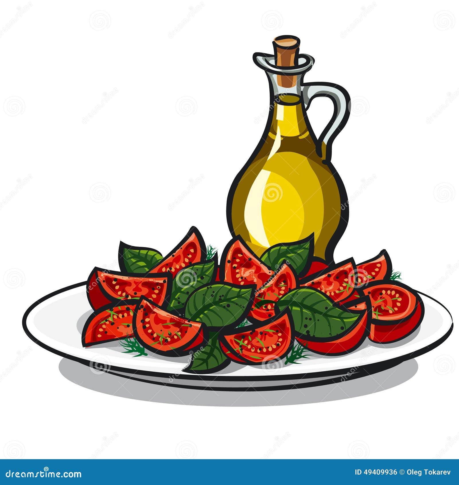 Download Salat mit Basilikum stock abbildung. Illustration von d0 - 49409936