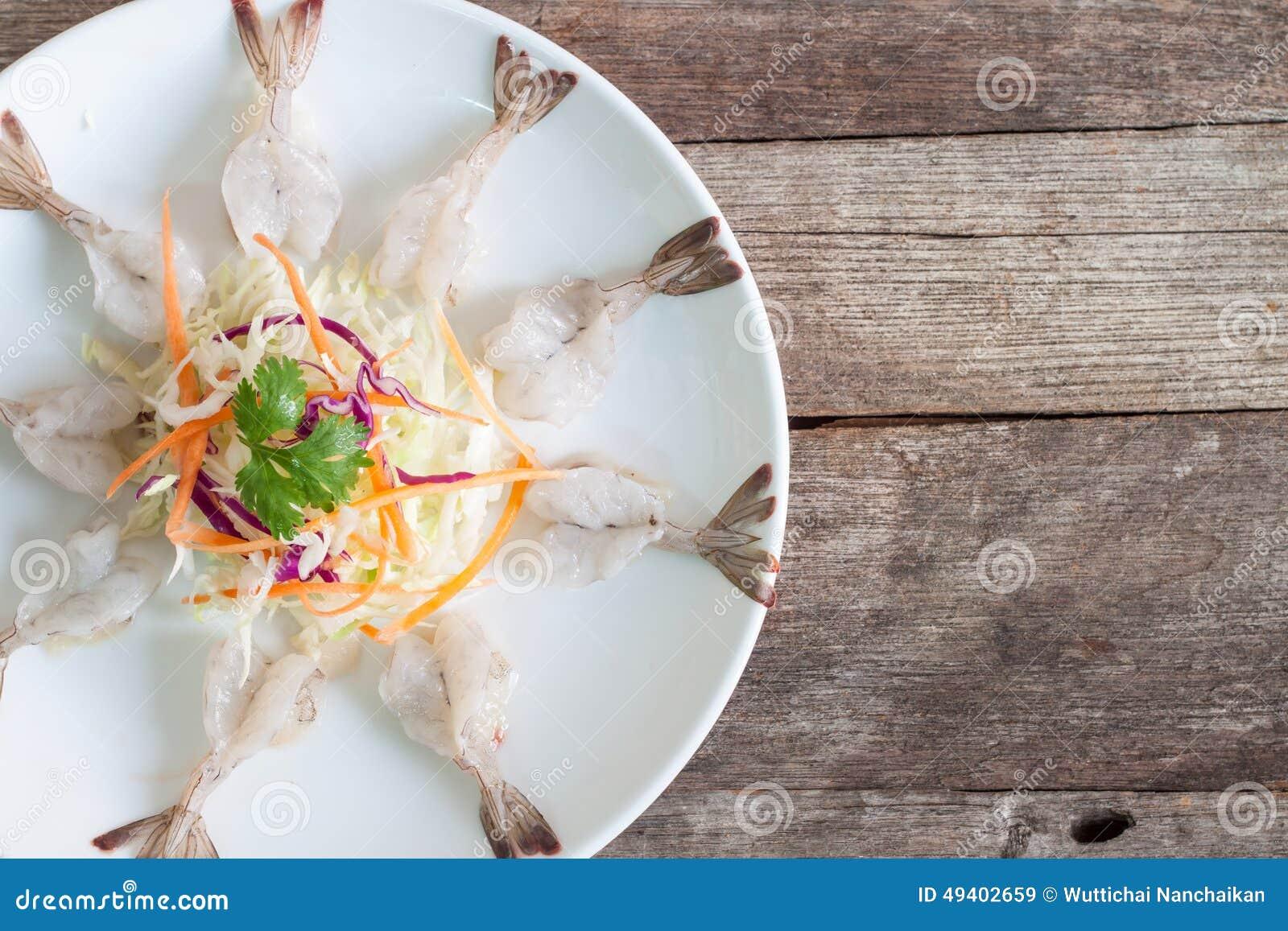 Download Salat Mit Frischen Garnelen Stockbild - Bild von salat, seafood: 49402659