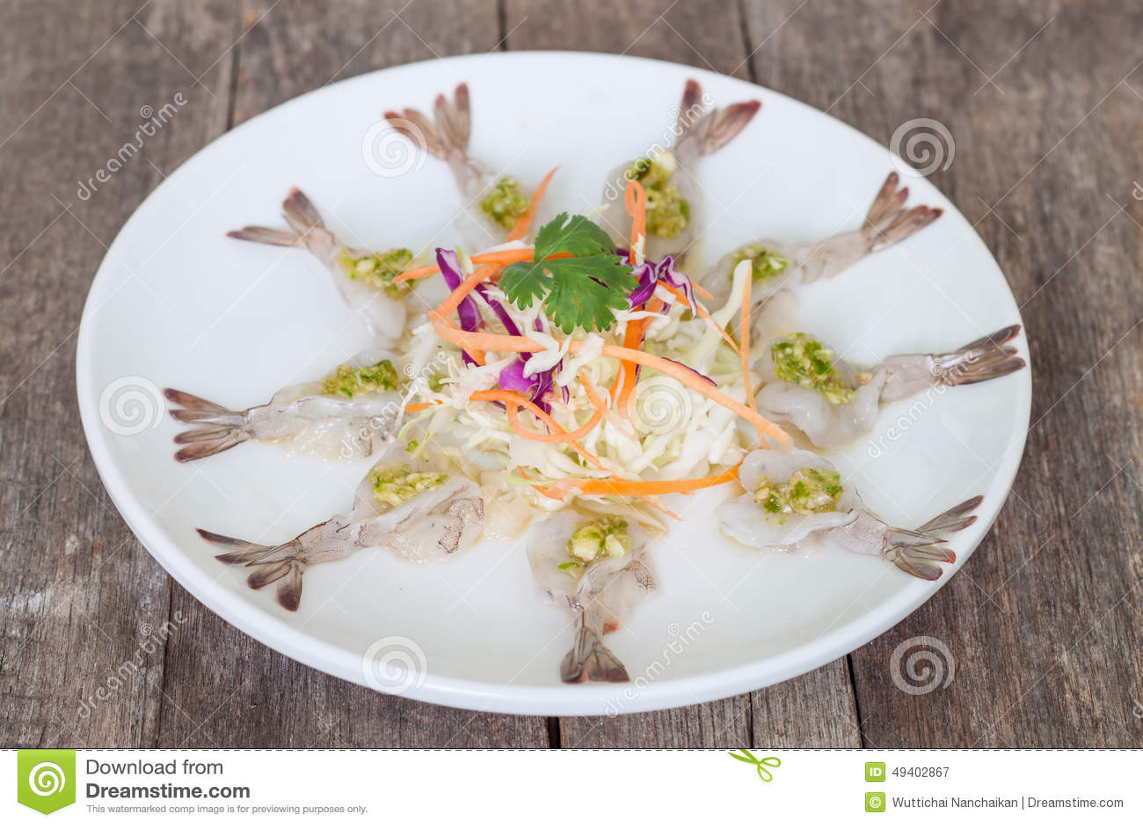 Download Salat Mit Frischen Garnelen Stockbild - Bild von salat, aperitif: 49402867