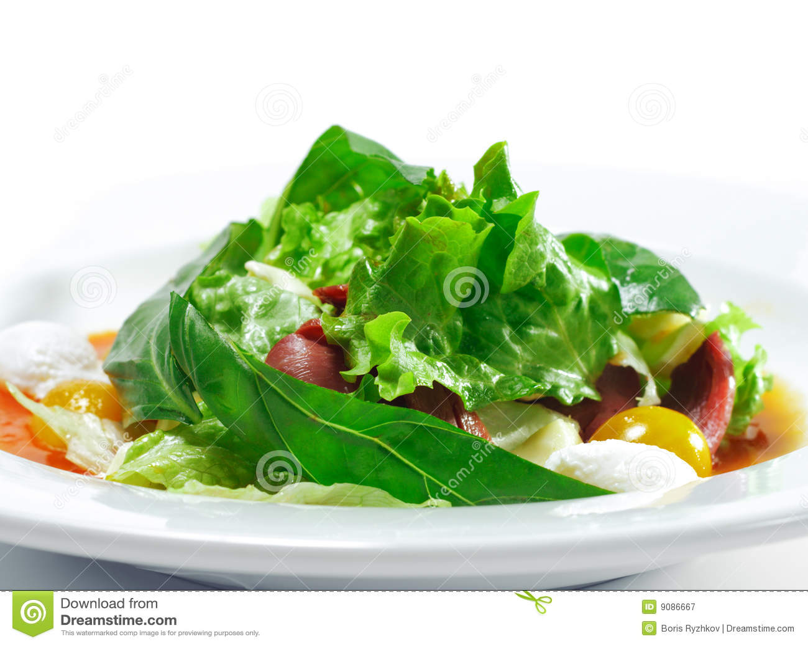 Salat mit Smoke-cured Ente-Brust