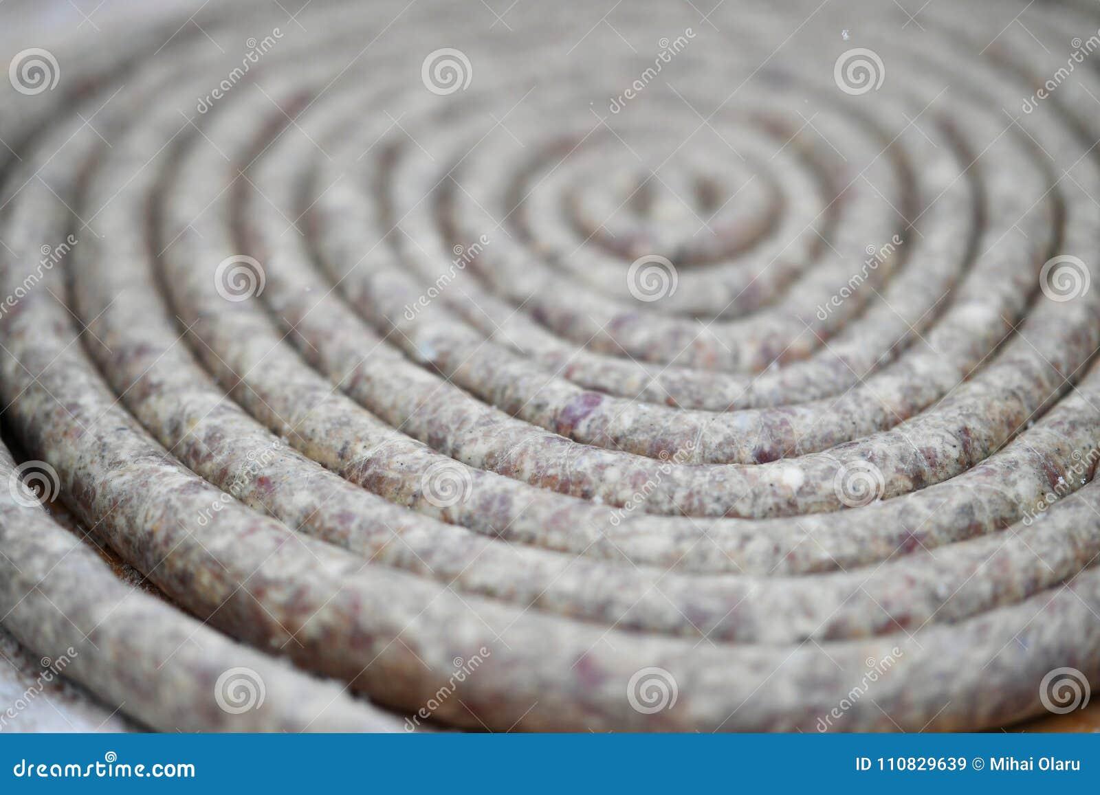 Salchicha en un espiral