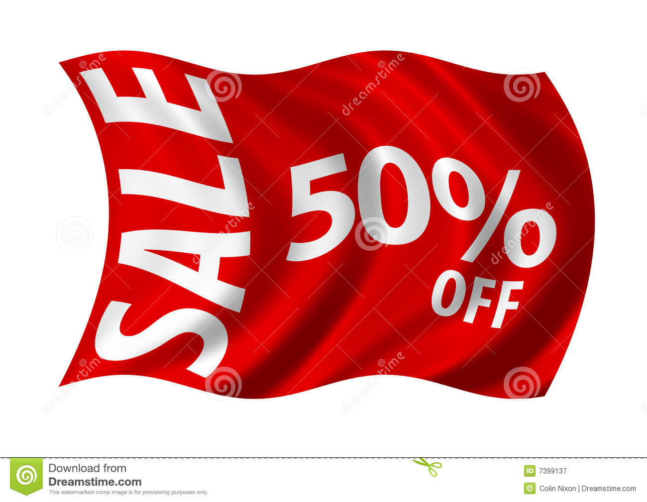Sale 50% Off Flag Royalty Free Stock Photography - Image: 7399137