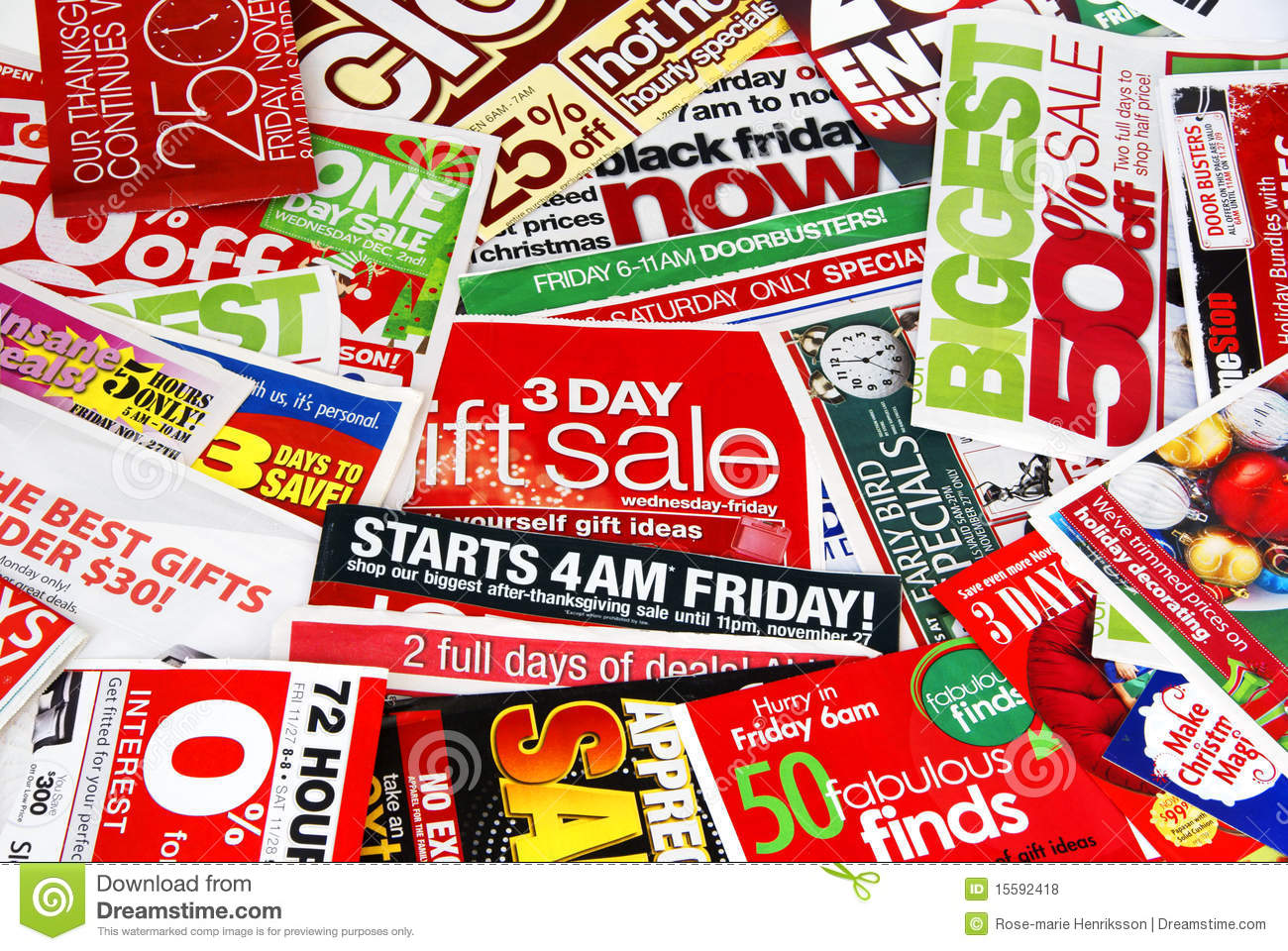 Sale advertising papers