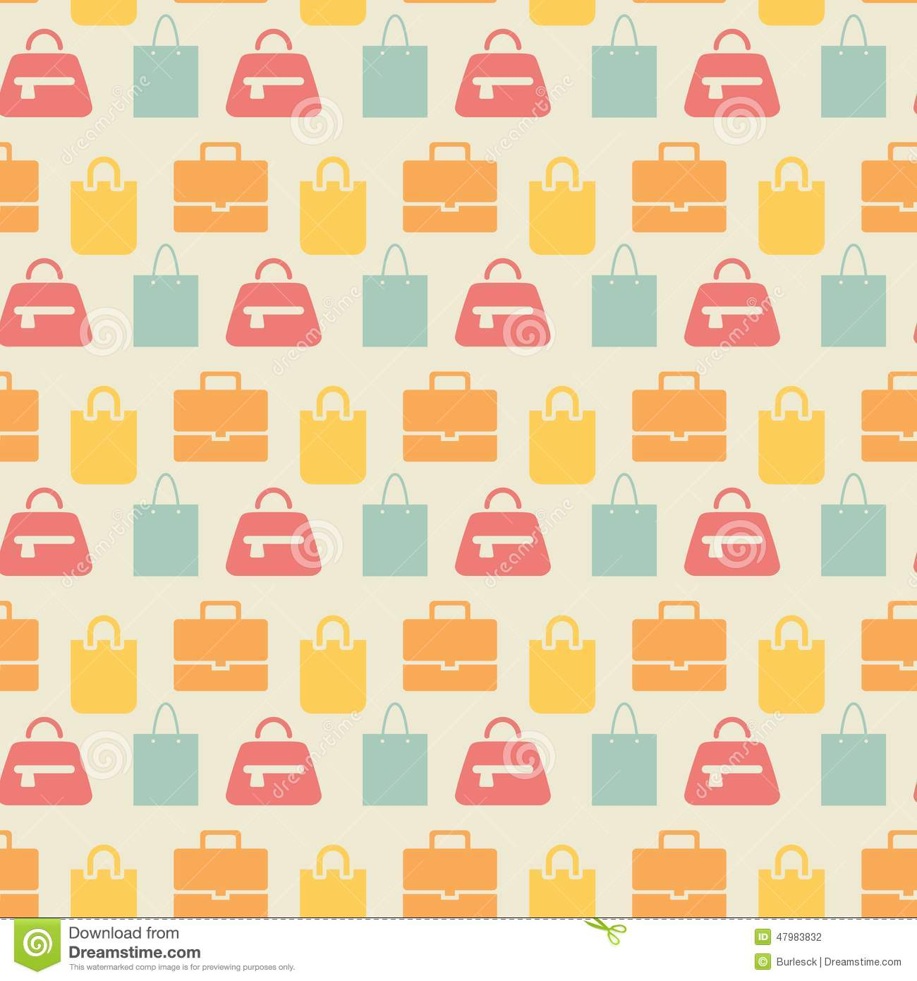 Sale Background With Shopping Bags Seamless Stock Image - Image ...