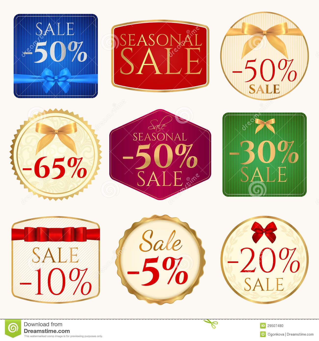 Sale Banners, Labels (coupon, Tag) Template Stock Photo - Image ...