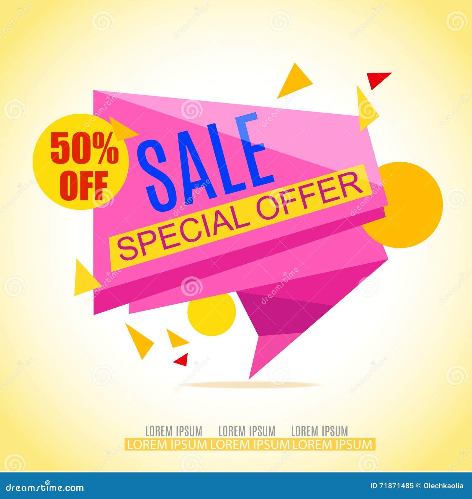 sale banner design sale background sale vector tag for promotional brochure stock vector