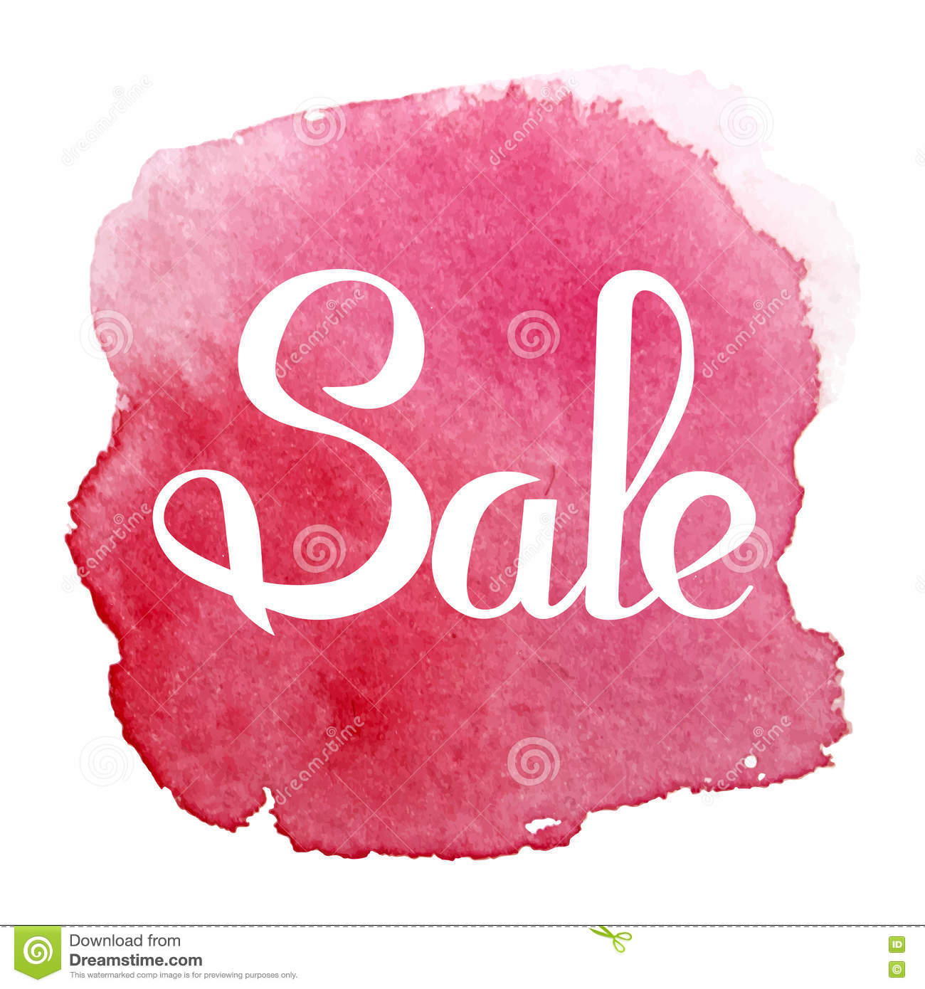 Sale Banner Template Design. Simple Message Card. Stock Vector ...