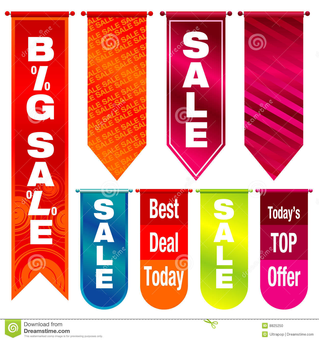 Sale Banners Stock Photo - Image: 8825250