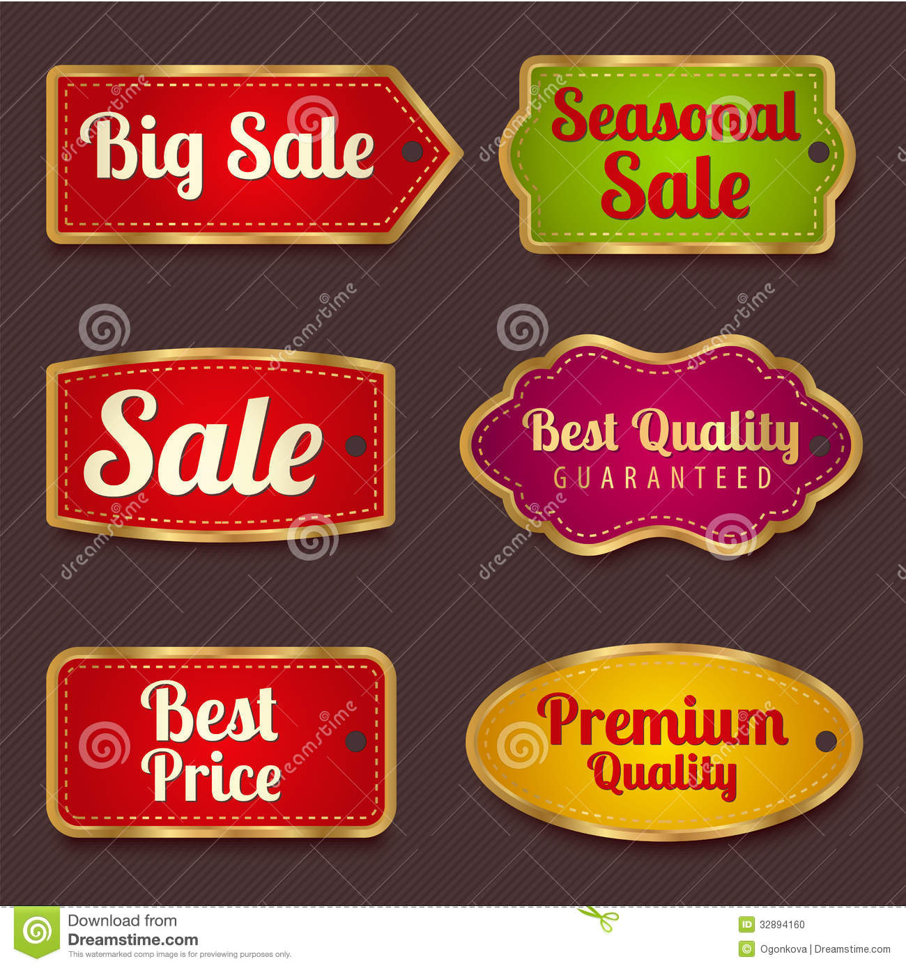 Sale Banners Labels Coupon Tag Template Stock Vector - Sticker layout template