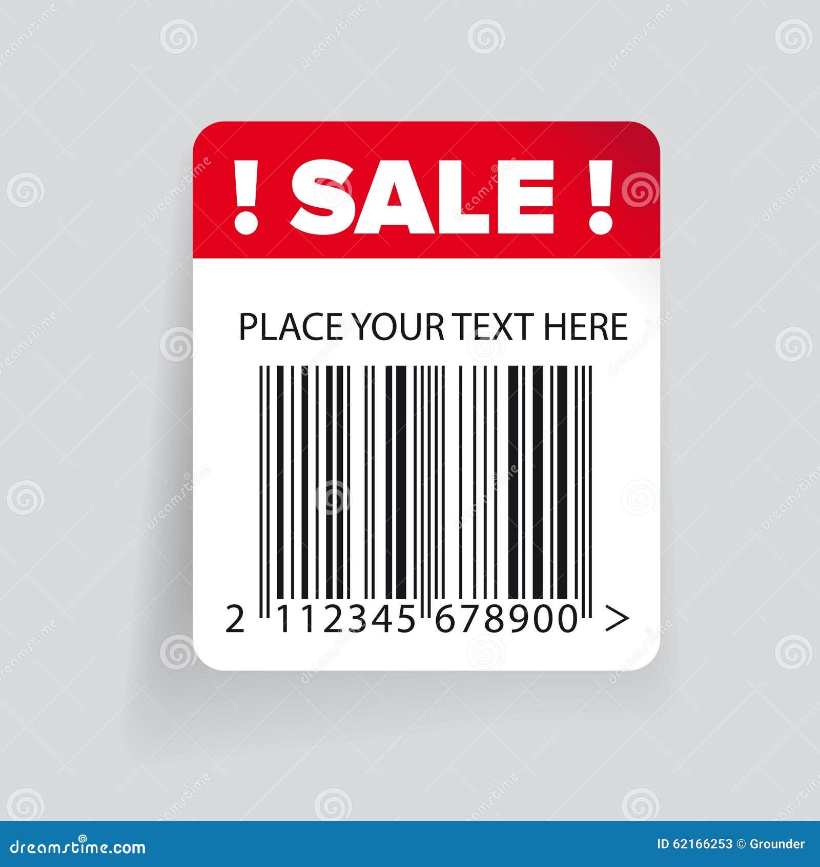 sale barcode label template vector stock vector image 62166253. Black Bedroom Furniture Sets. Home Design Ideas