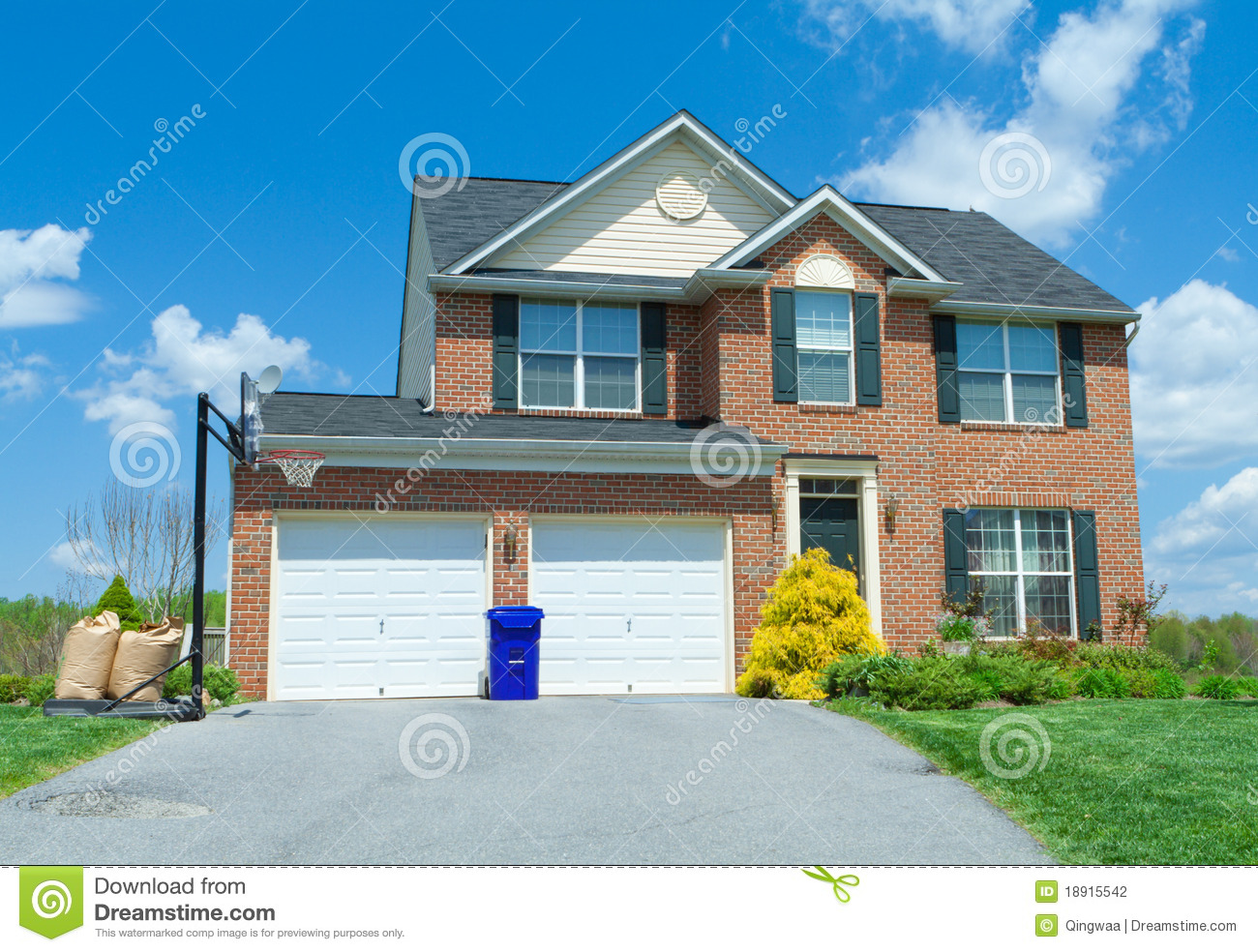 Sale brick single family house home suburban usa stock for House pictures for sale