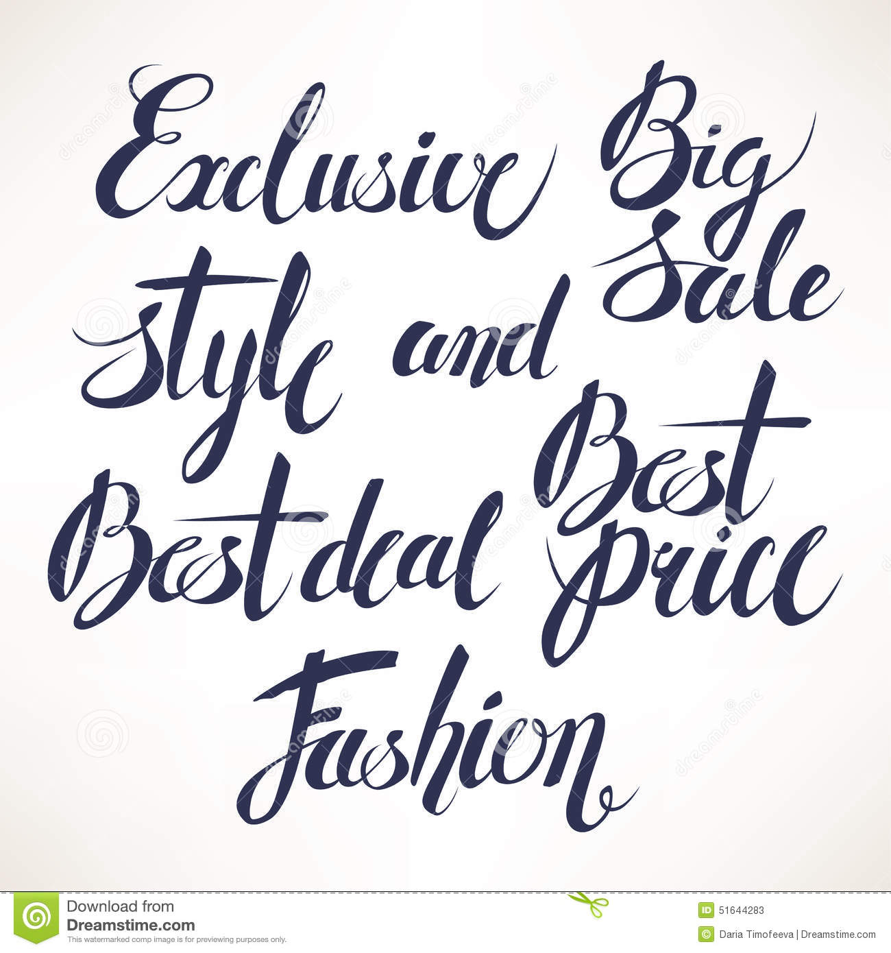 Sale Calligraphy Stock Vector Illustration Of Type Gray