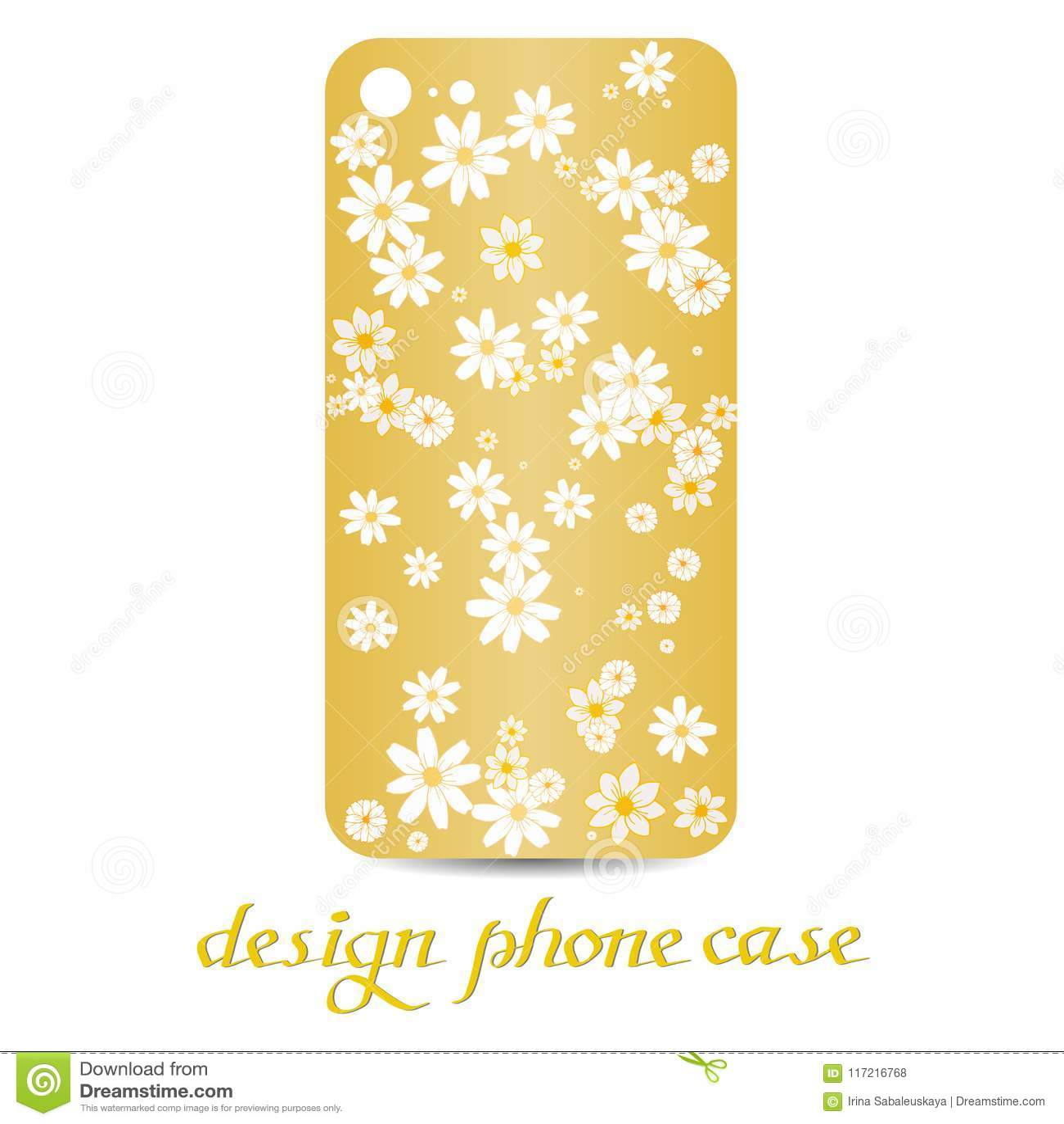 Design phone case. Phone cases are floral decorated. Vintage decorative elements.