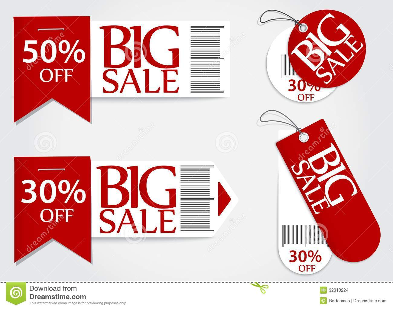 Sale Card Red Promotion Percentage Retail Stock Images - Image ...