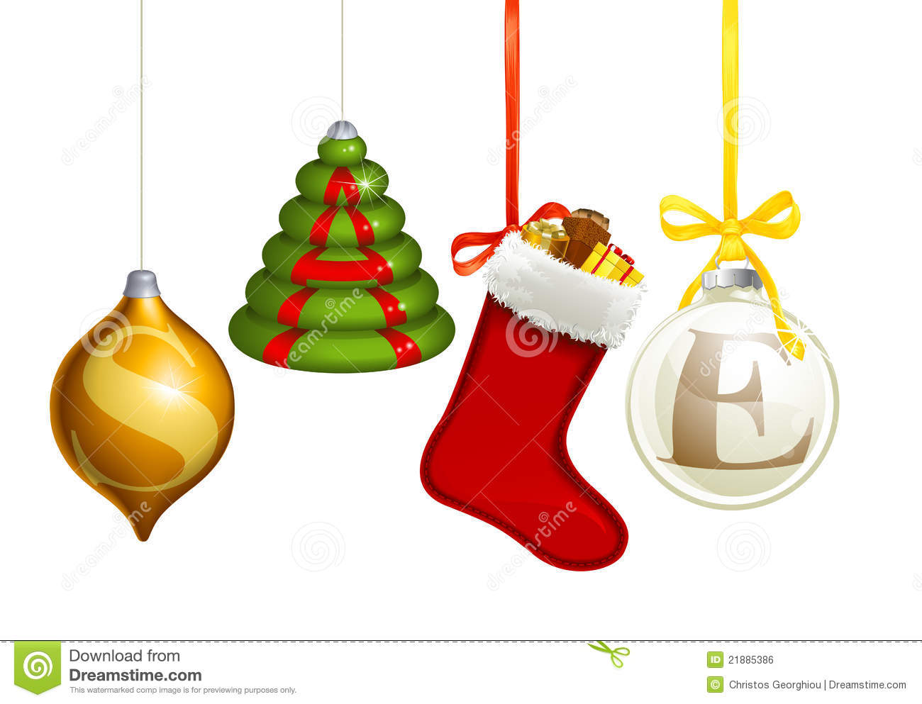 Sale christmas decorations royalty free stock image for Christmas sale items