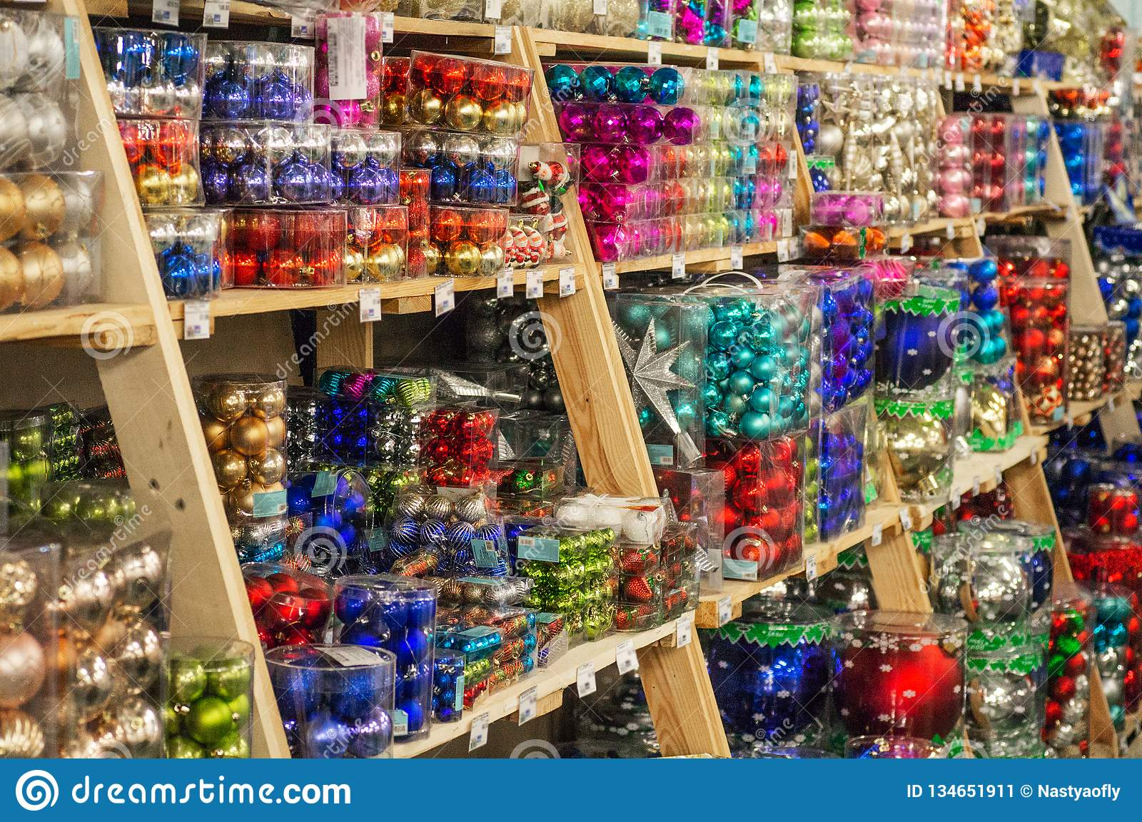 Image result for pics of store shelves full of christmas decorations
