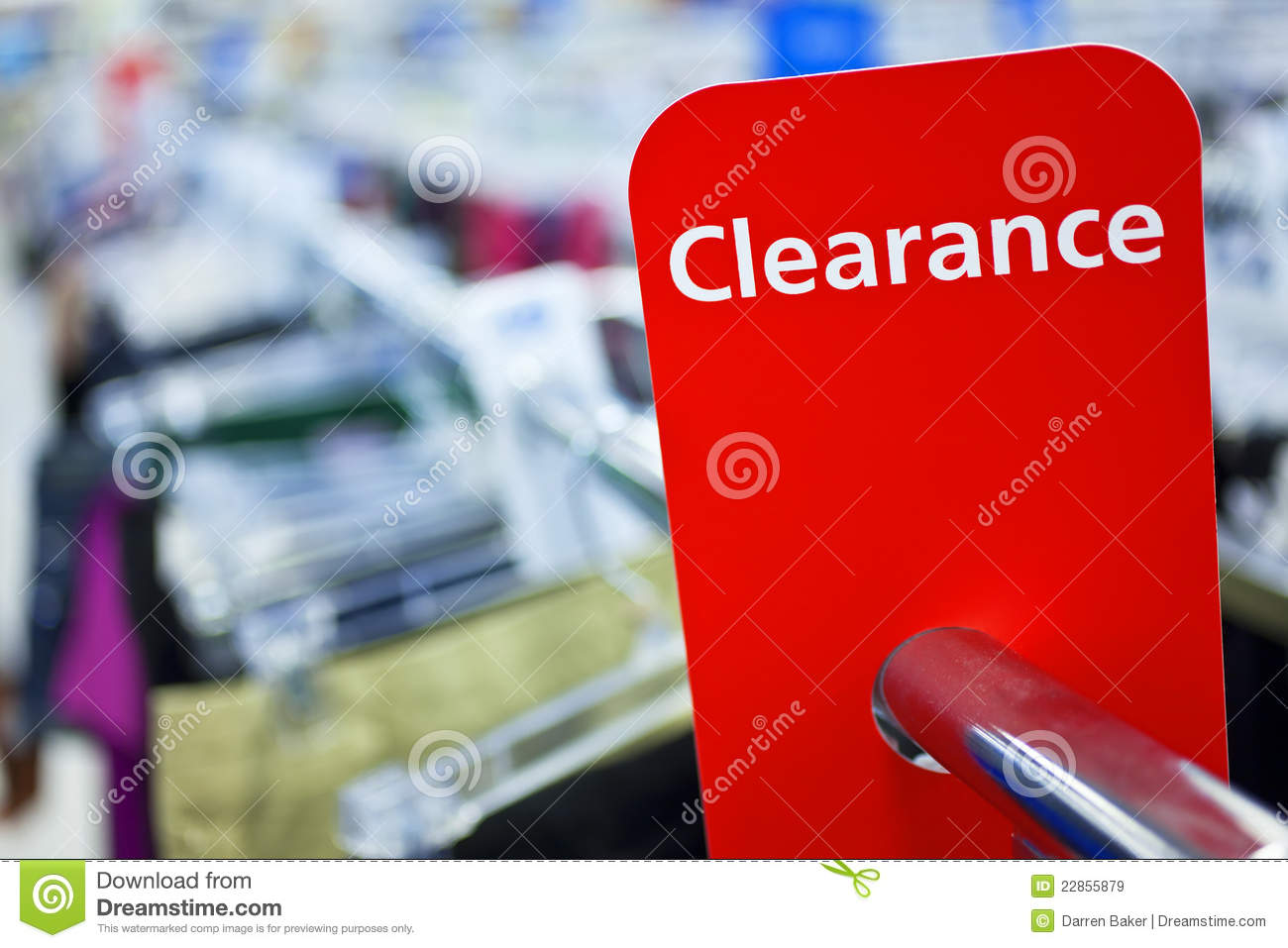 0d4776d7f47d Sale Clearance Sign On Rail In Clothes Shop Stock Image - Image of ...