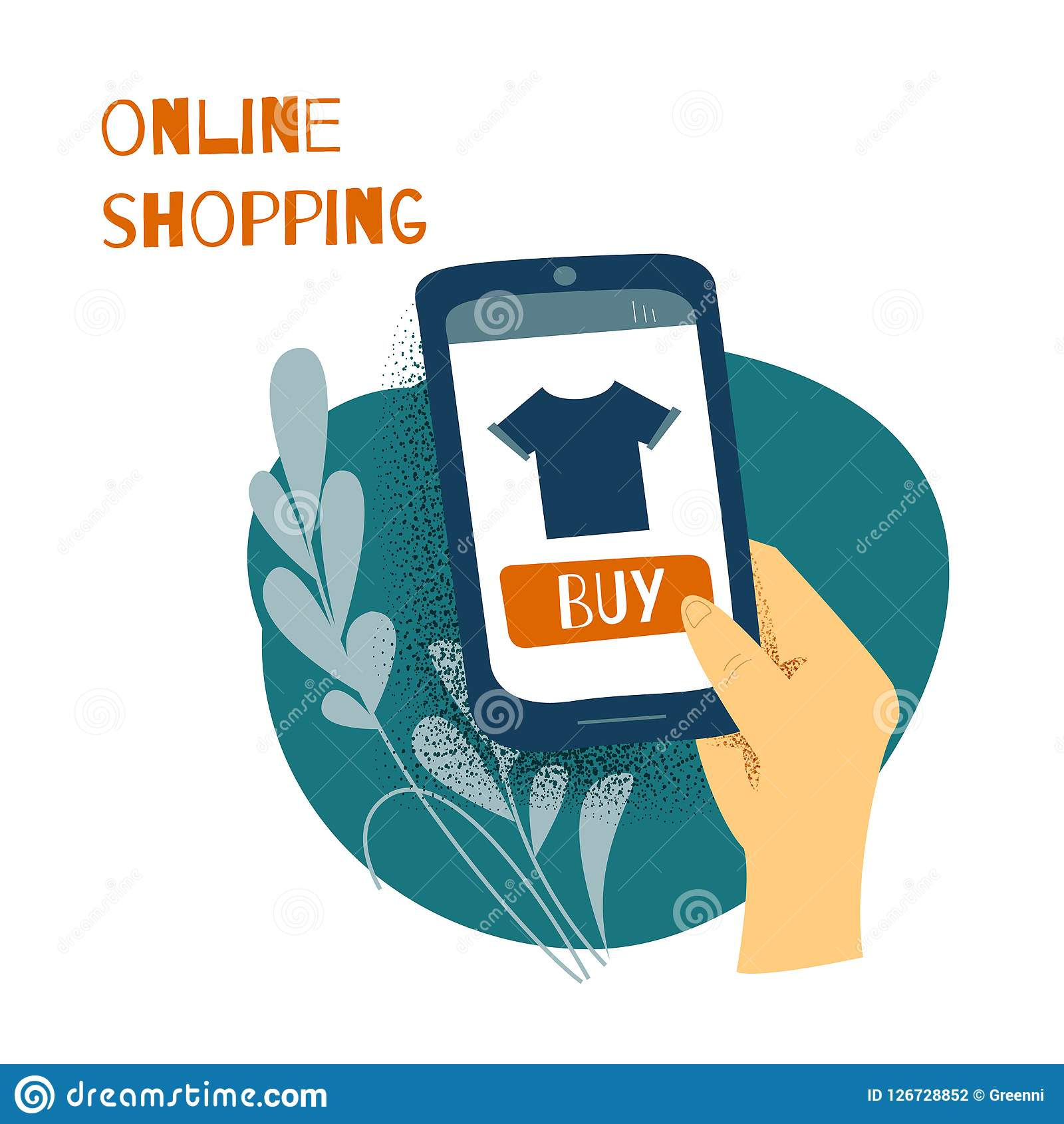 Sale consumerism, online-shoping begrepp