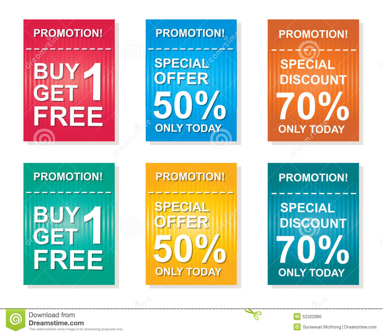 Sale Coupon, Offers Promotions, Discount Sale Vector Template  Discount Coupons Templates