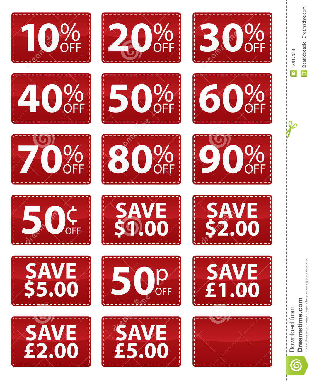 Coupons for sale