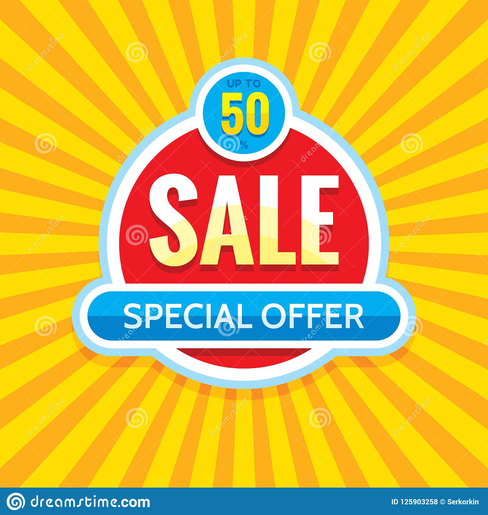 Sale - creative banner vector illustration. Abstract concept discount 50  promotion layout. Special offer sticker. Graphic design.