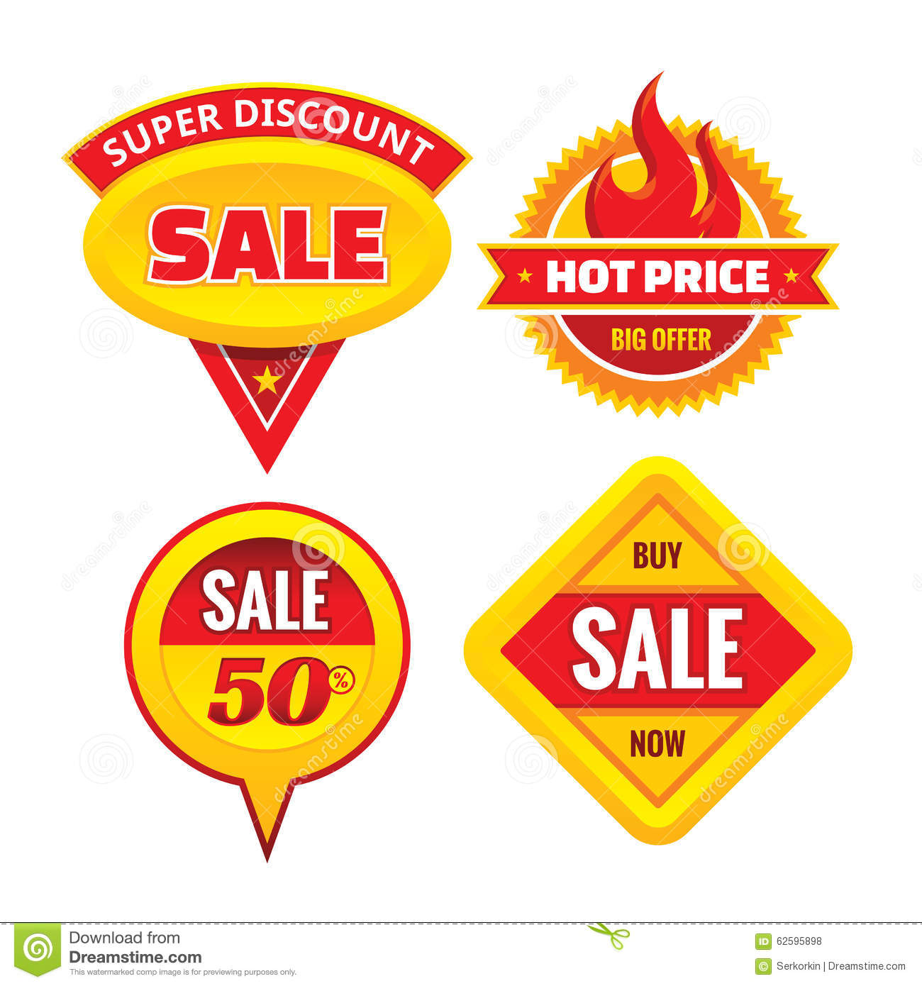 Sale - creative vector badges set. Special discount vector badges collection. Super offer concept stickers.