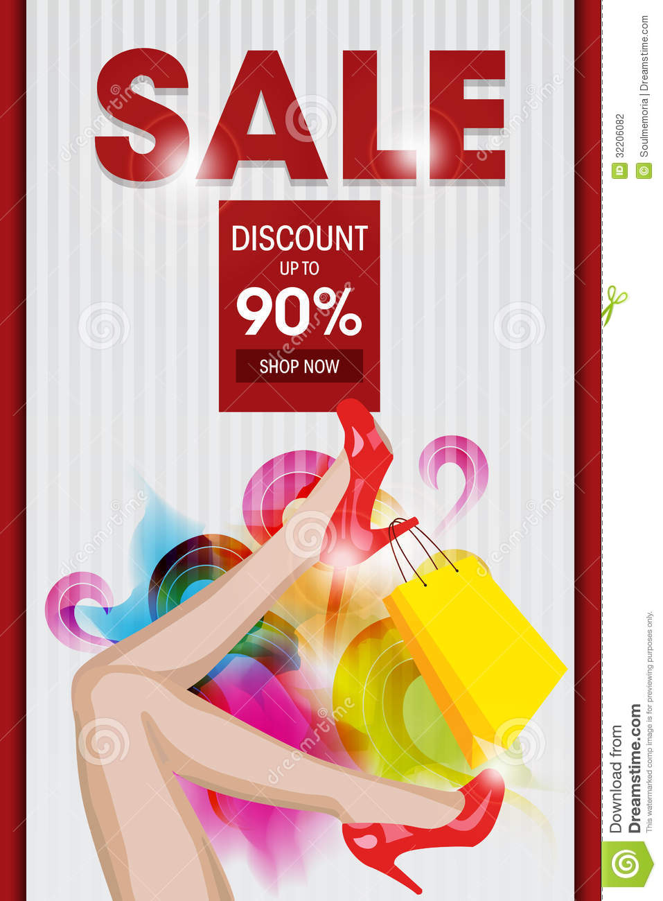 Sale Discount Ad Template Stock Photography - Image: 32206082