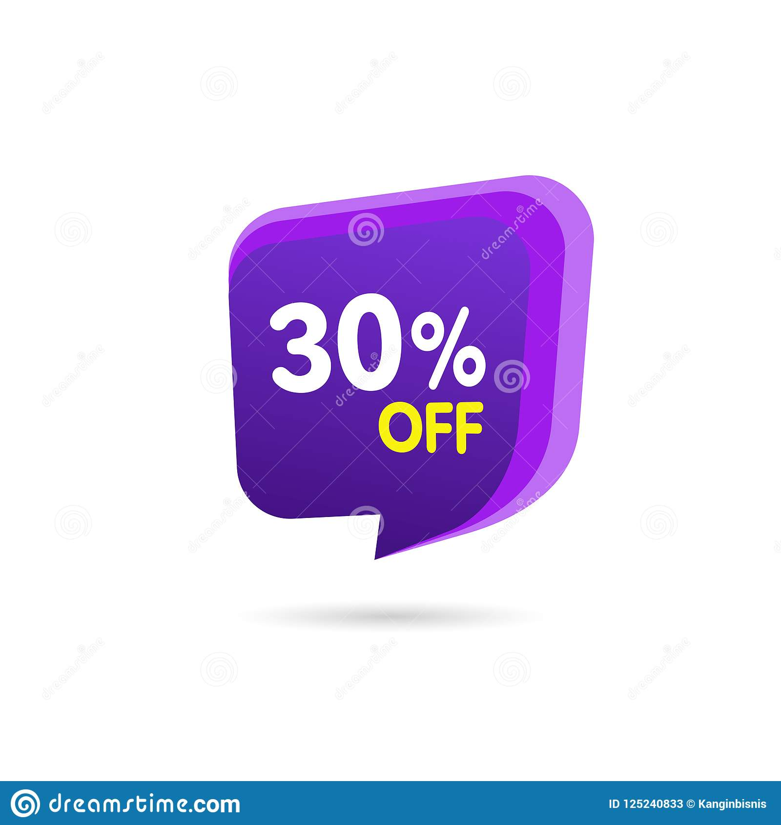 Sale Discount Banner. Discount offer price tag. Special offer sale purple label. Vector Modern Sticker Illustration. Isolated Back