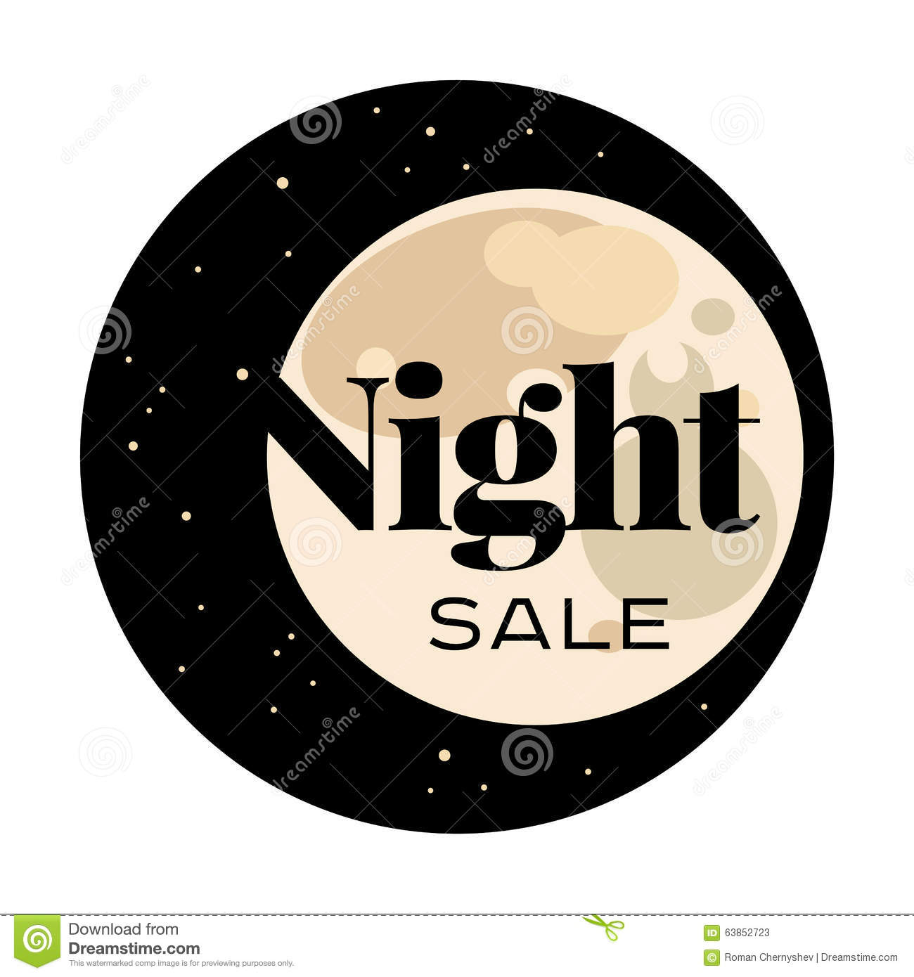 sale and discount card banner flier black friday offer night