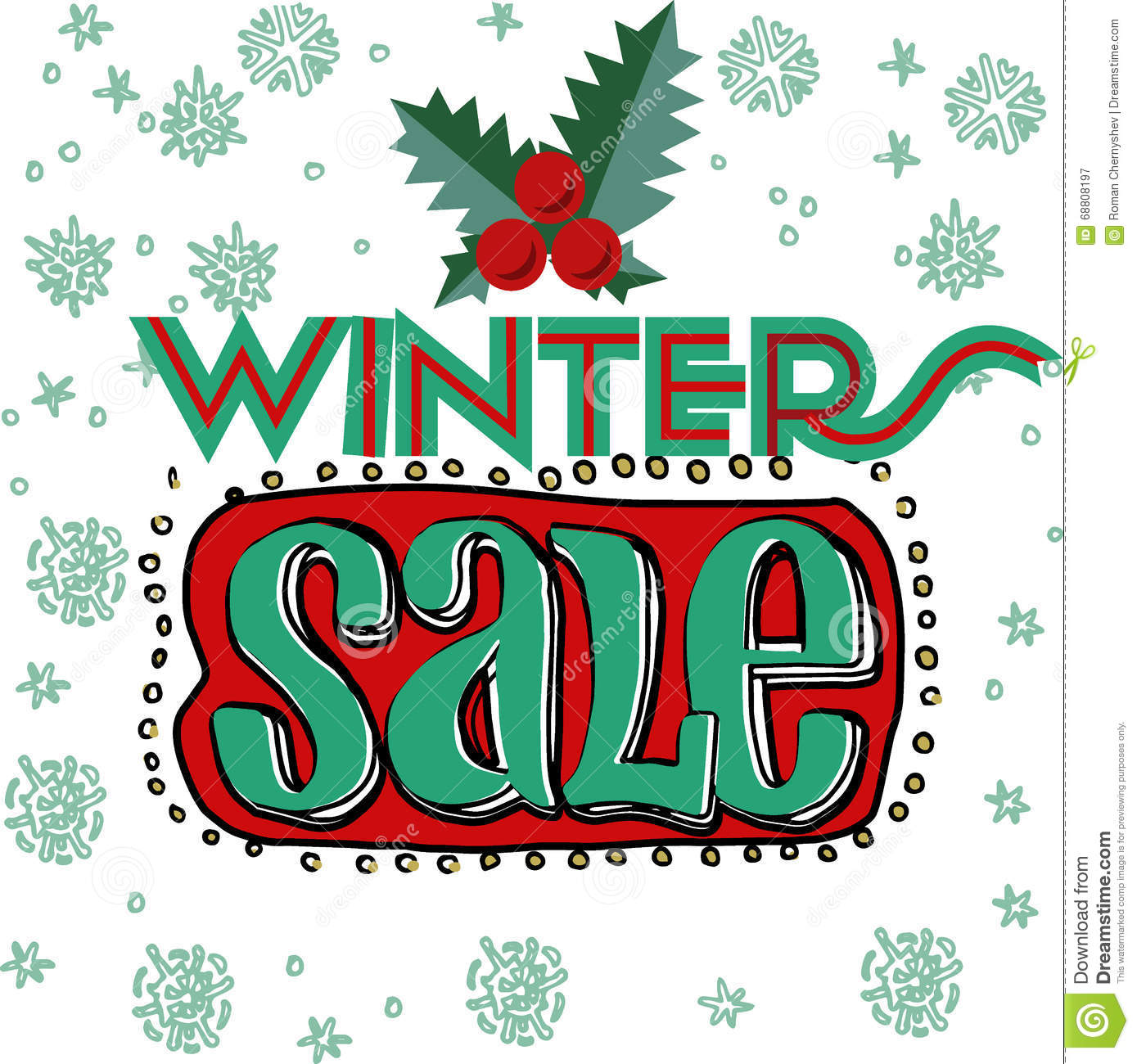 sale and discount card banner flier winter sale title stock