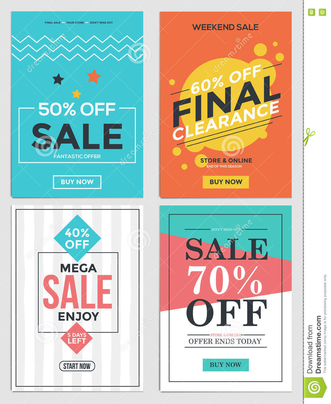 sale and discount flyers stock vector illustration of social 76563317