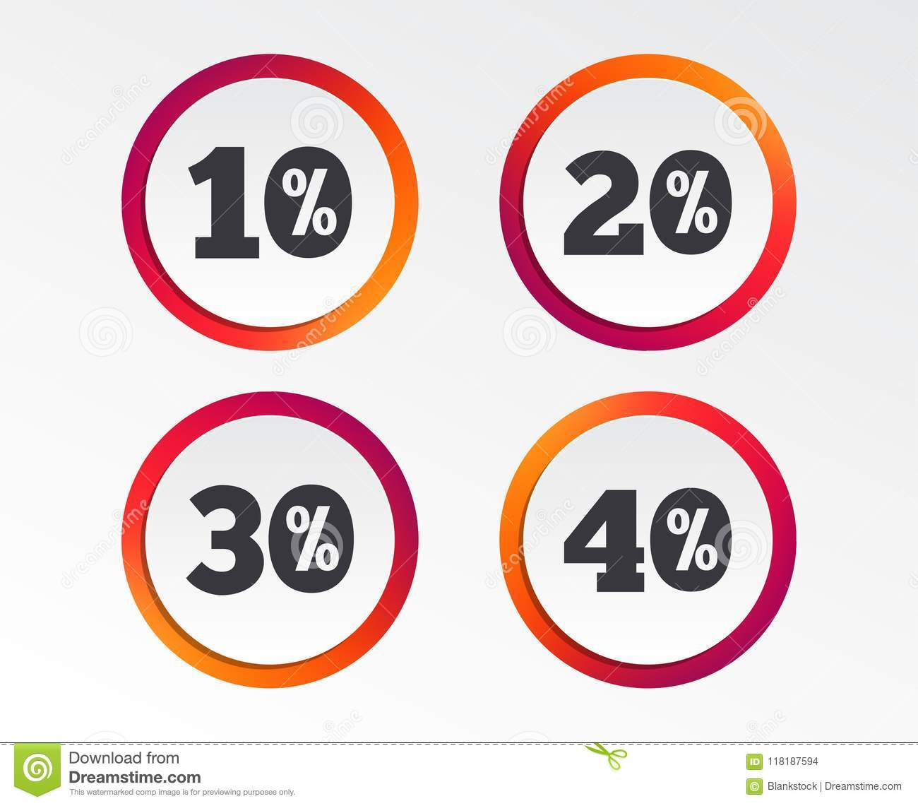 sale discount icons special offer price signs stock vector