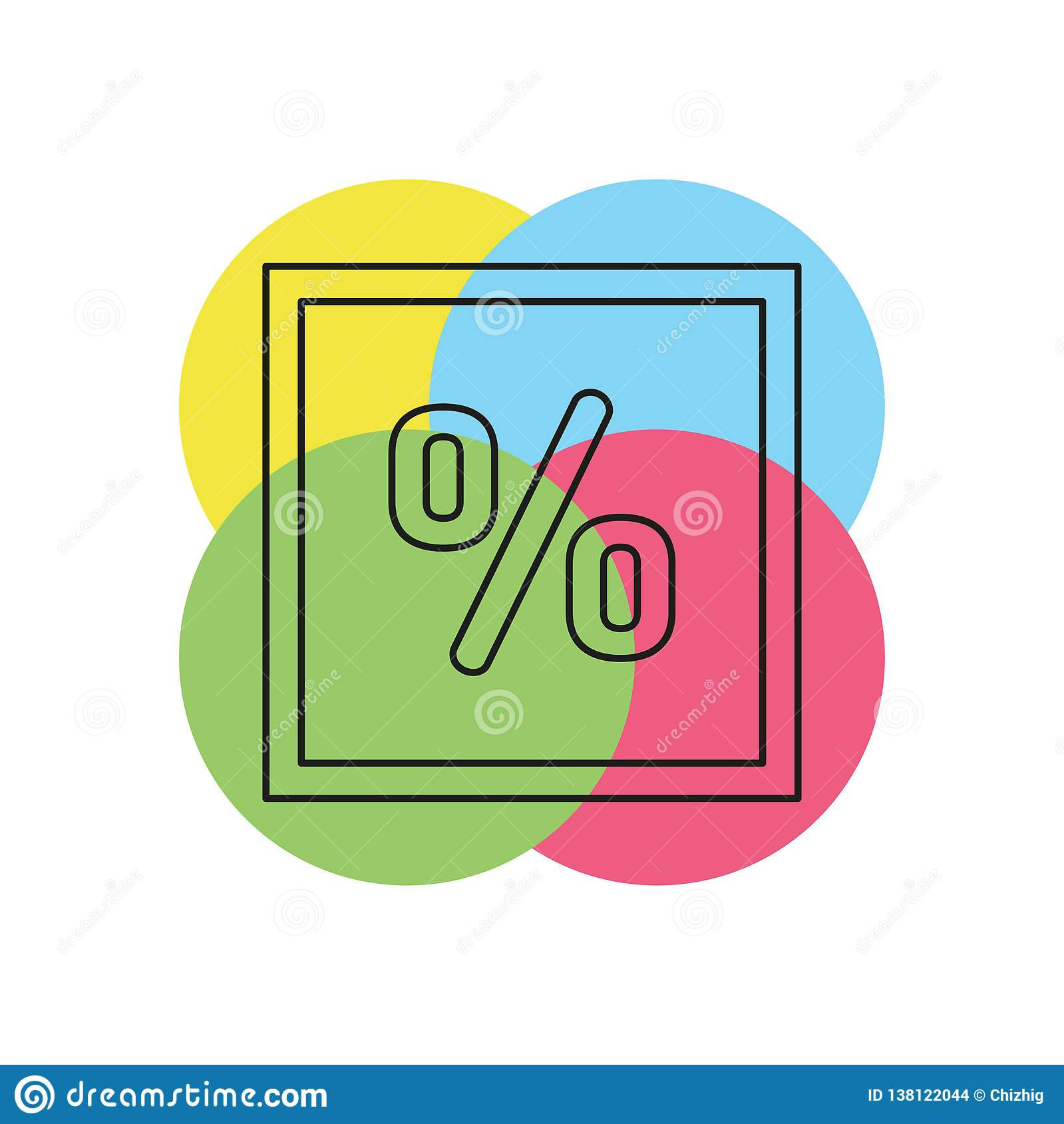 sale Discount percent - offer savings coupon