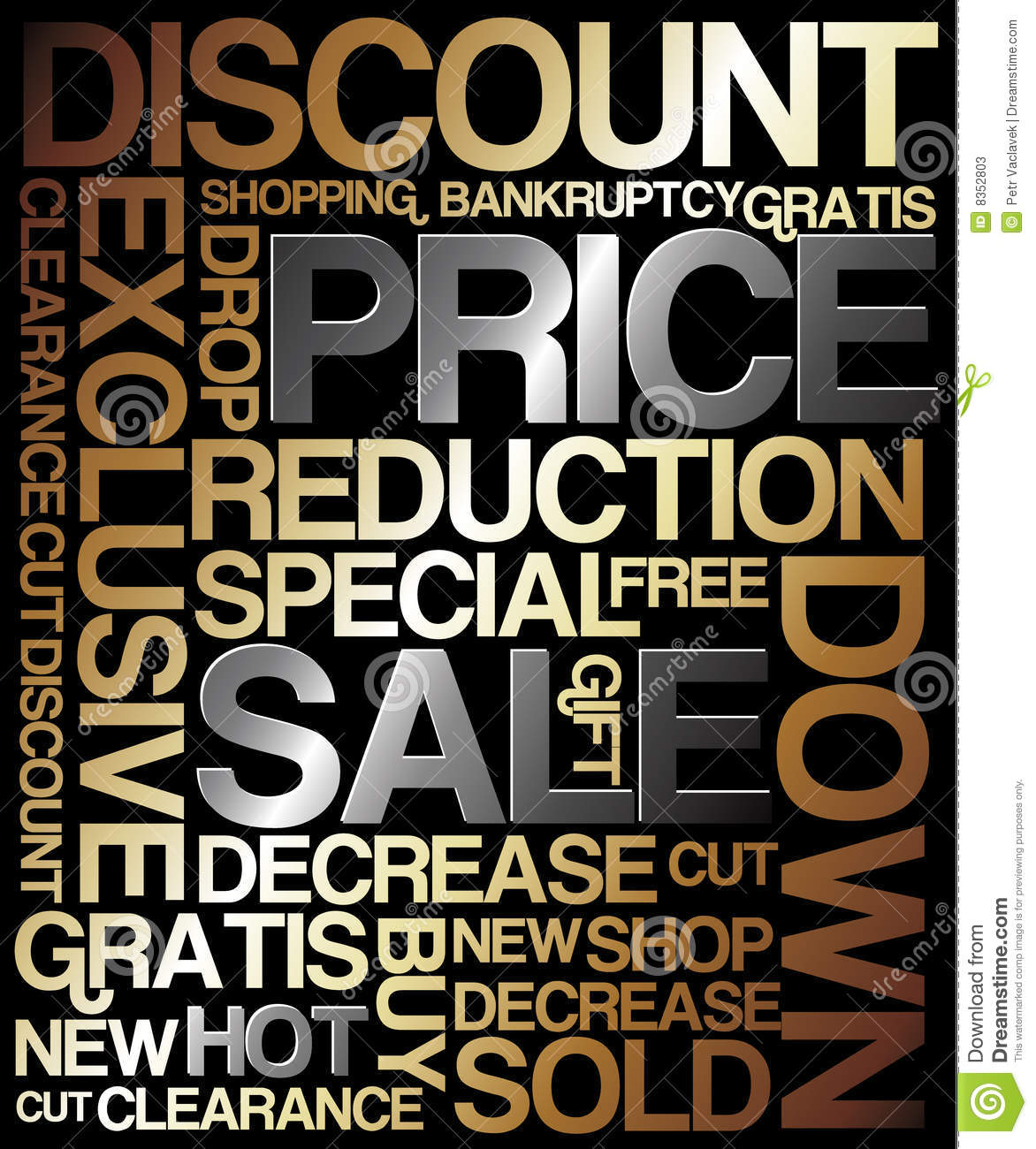 Sale discount poster - metal colors (golden and silver).: dreamstime.com/stock-photos-sale-discount-poster-image8352803
