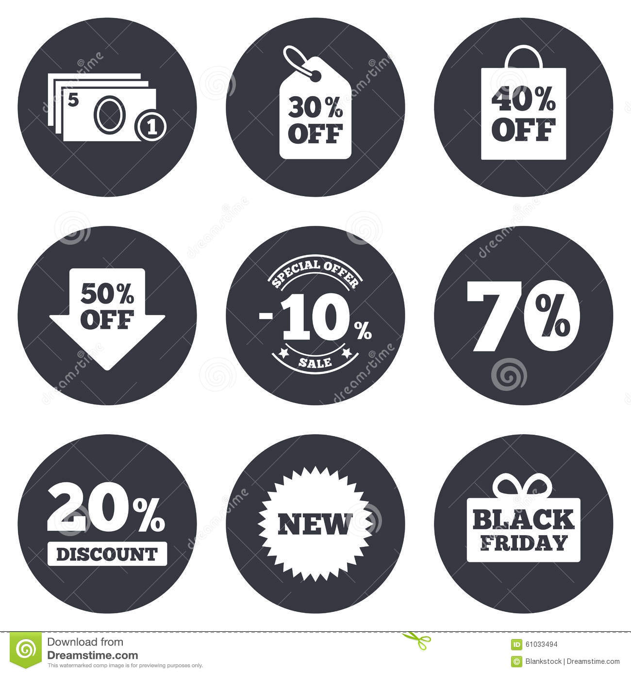 Sale Discounts Icon. Shopping, Deal Signs Stock Vector ...