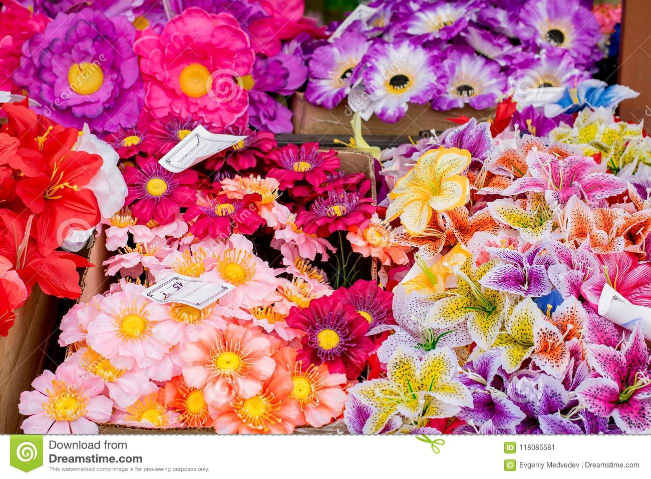 Sale of flower bouquets with price tags close up stock image image sale of flower bouquets with price tags close up izmirmasajfo