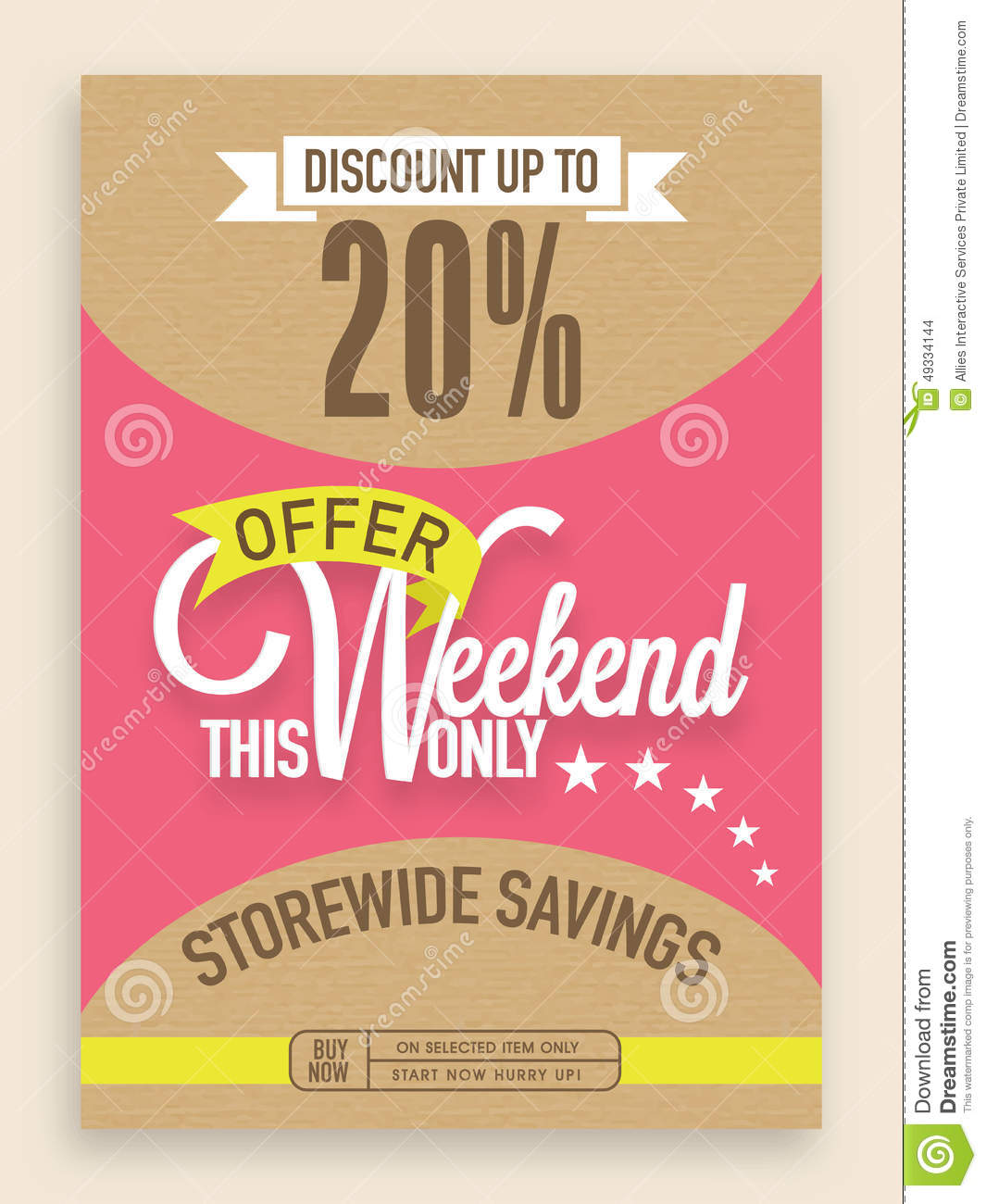 Sale Flyer, Banner Or Template Design. Stock Photo
