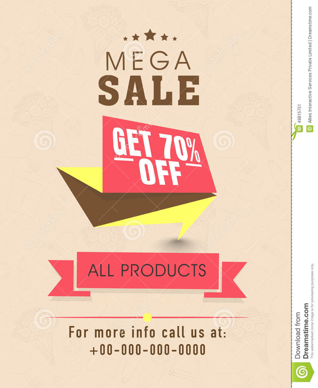Sale Flyer Banner Or Template Design Illustration Image – Sale Flyer Design
