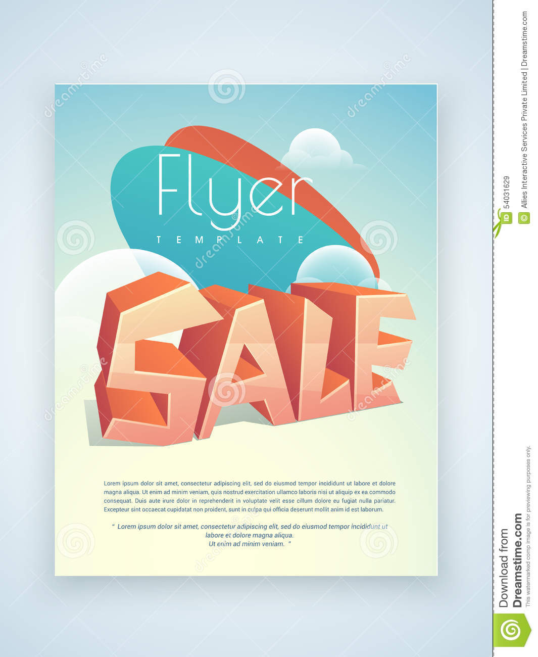 Newsletter template design with discount offer cartoon Architecture firm for sale