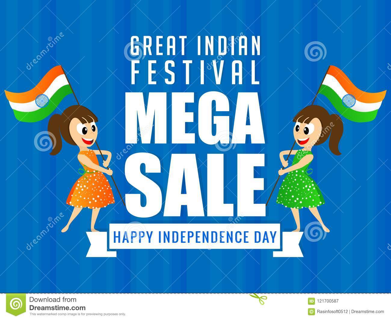 nice and beautiful sale flyer or poster for independence day of india or 15th of august with nice and creative design illustration special discount upto